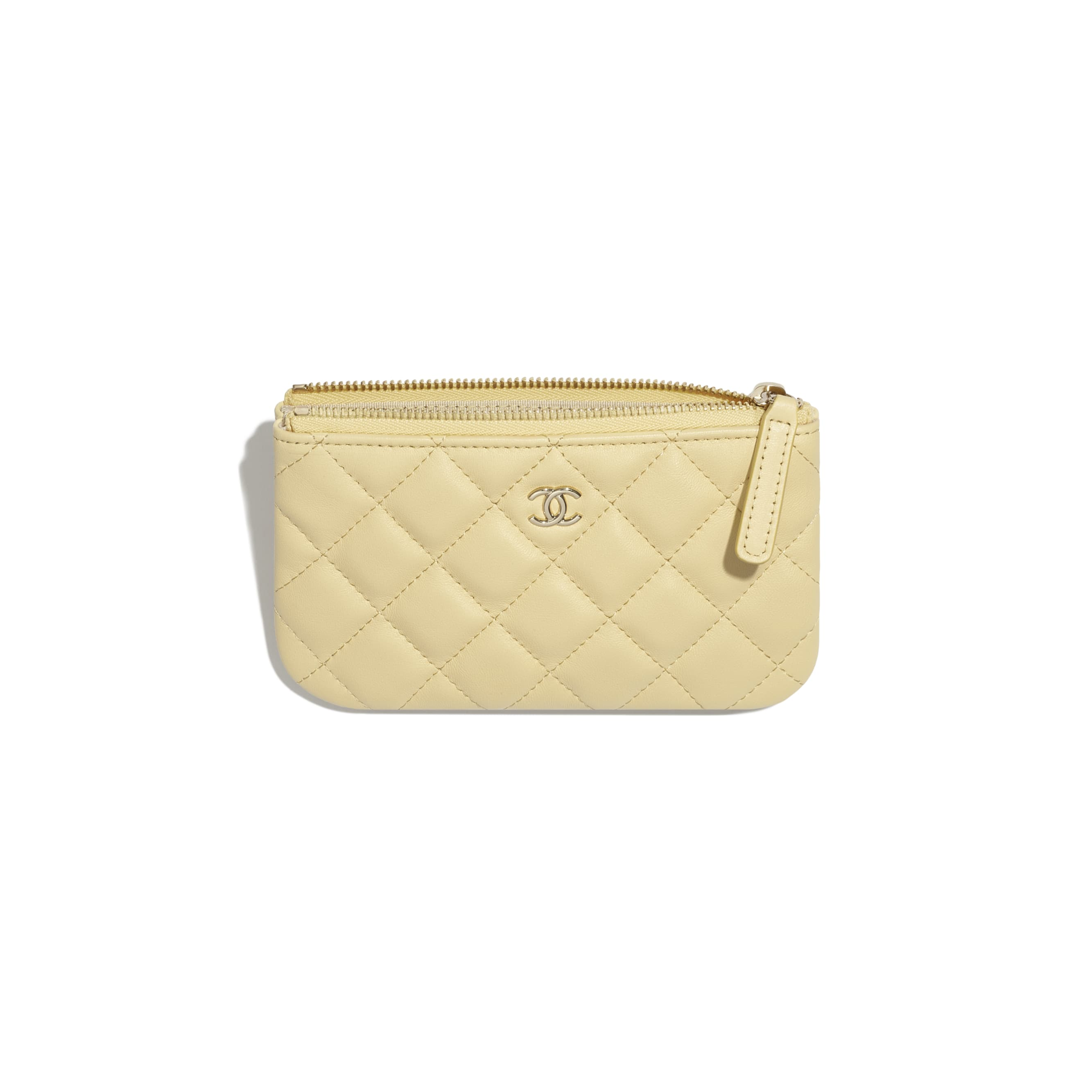 Classic Mini Pouch - Yellow - Lambskin - CHANEL - Alternative view - see standard sized version