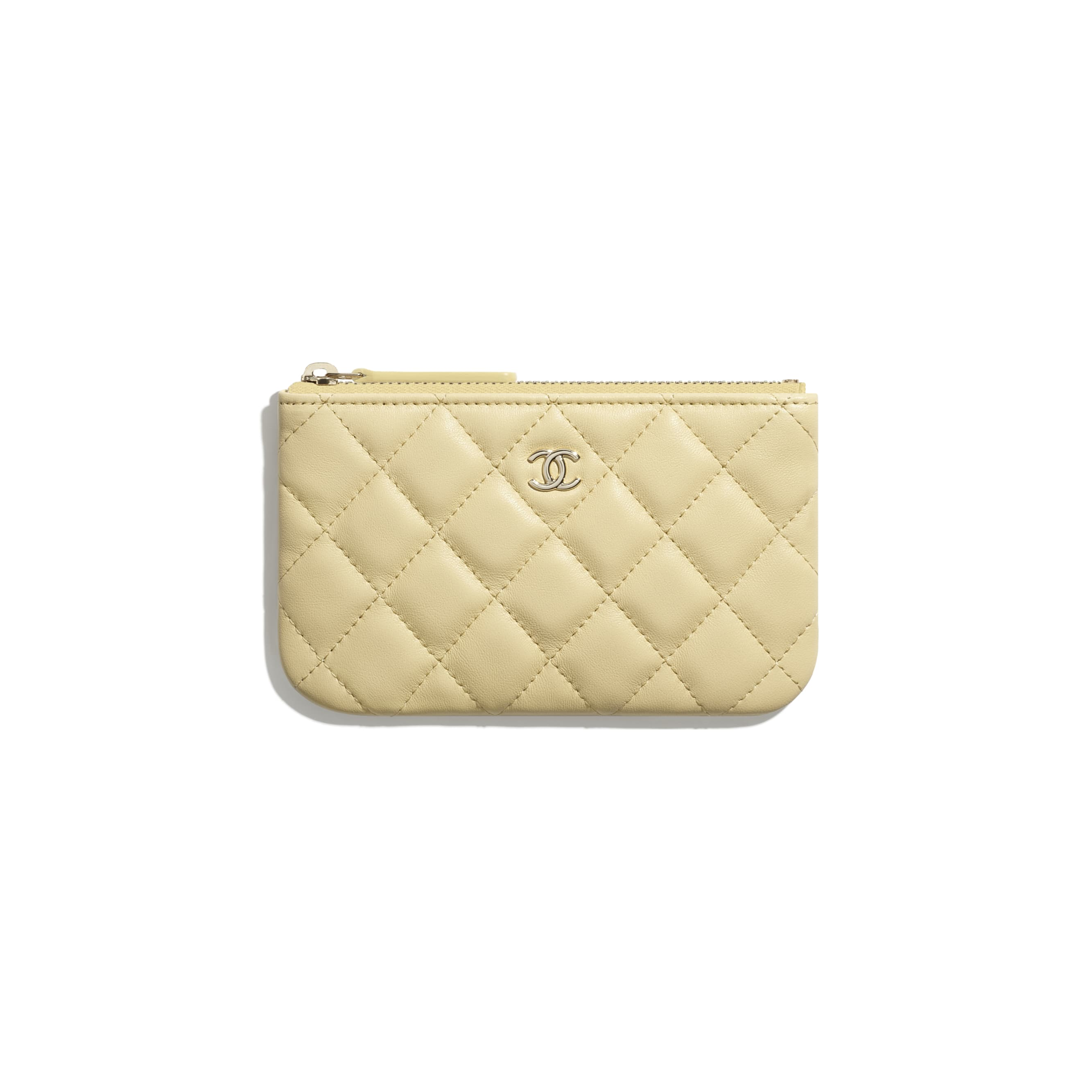 Classic Mini Pouch - Yellow - Lambskin - CHANEL - Default view - see standard sized version
