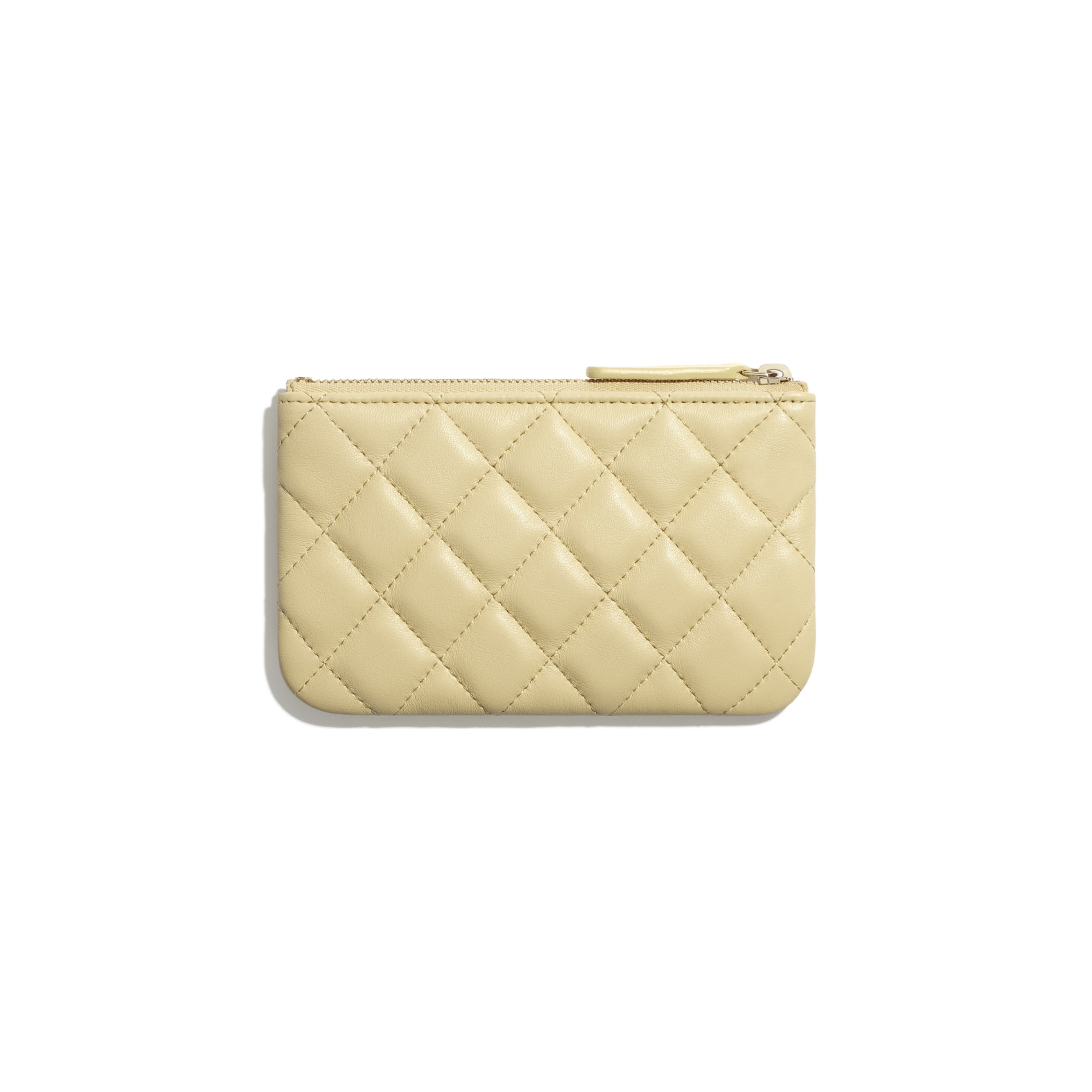 Classic Mini Pouch - Yellow - Lambskin - CHANEL - Other view - see standard sized version