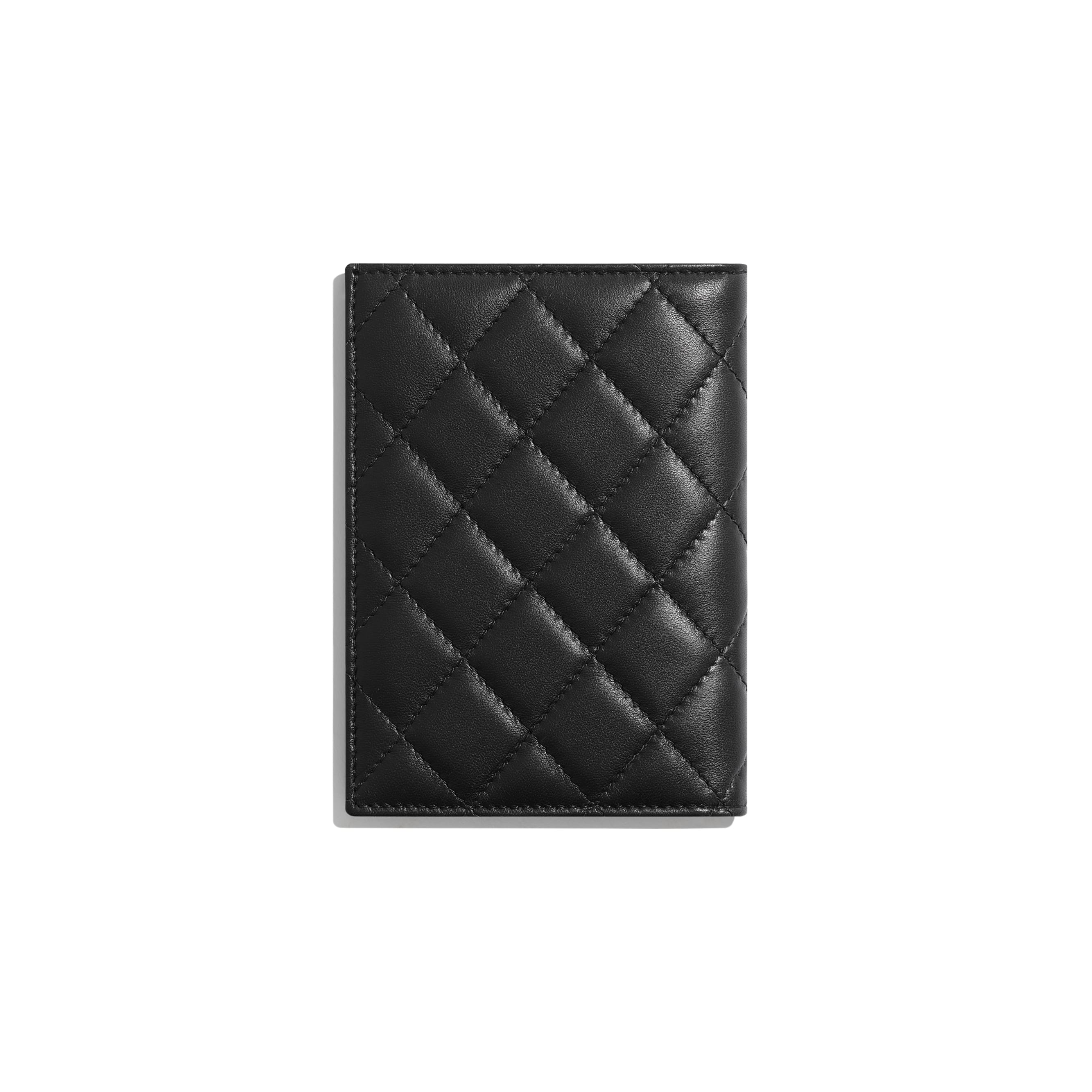 Classic Passport Holder - Black - Lambskin - Alternative view - see standard sized version
