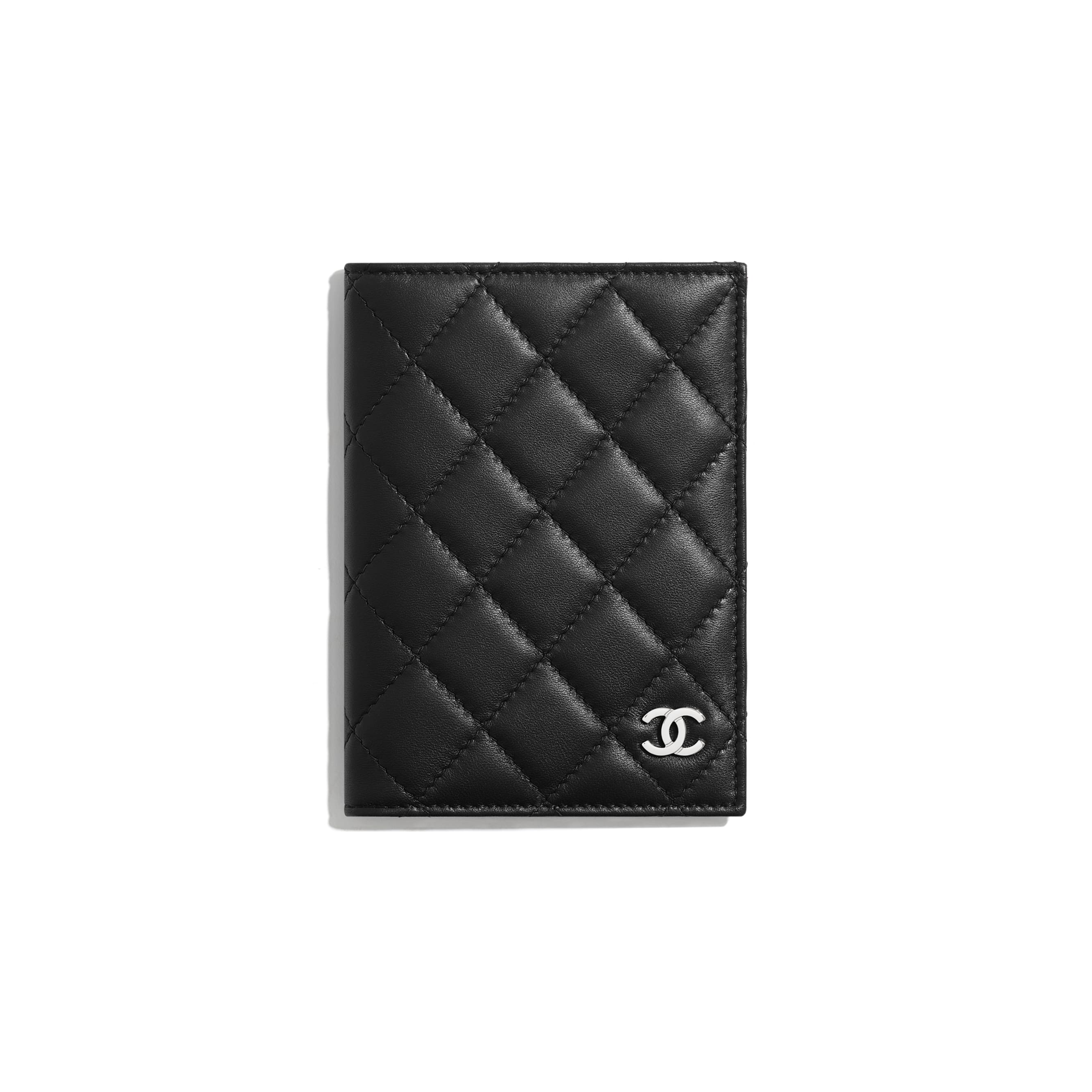 Classic Passport Holder - Black - Lambskin - Default view - see standard sized version