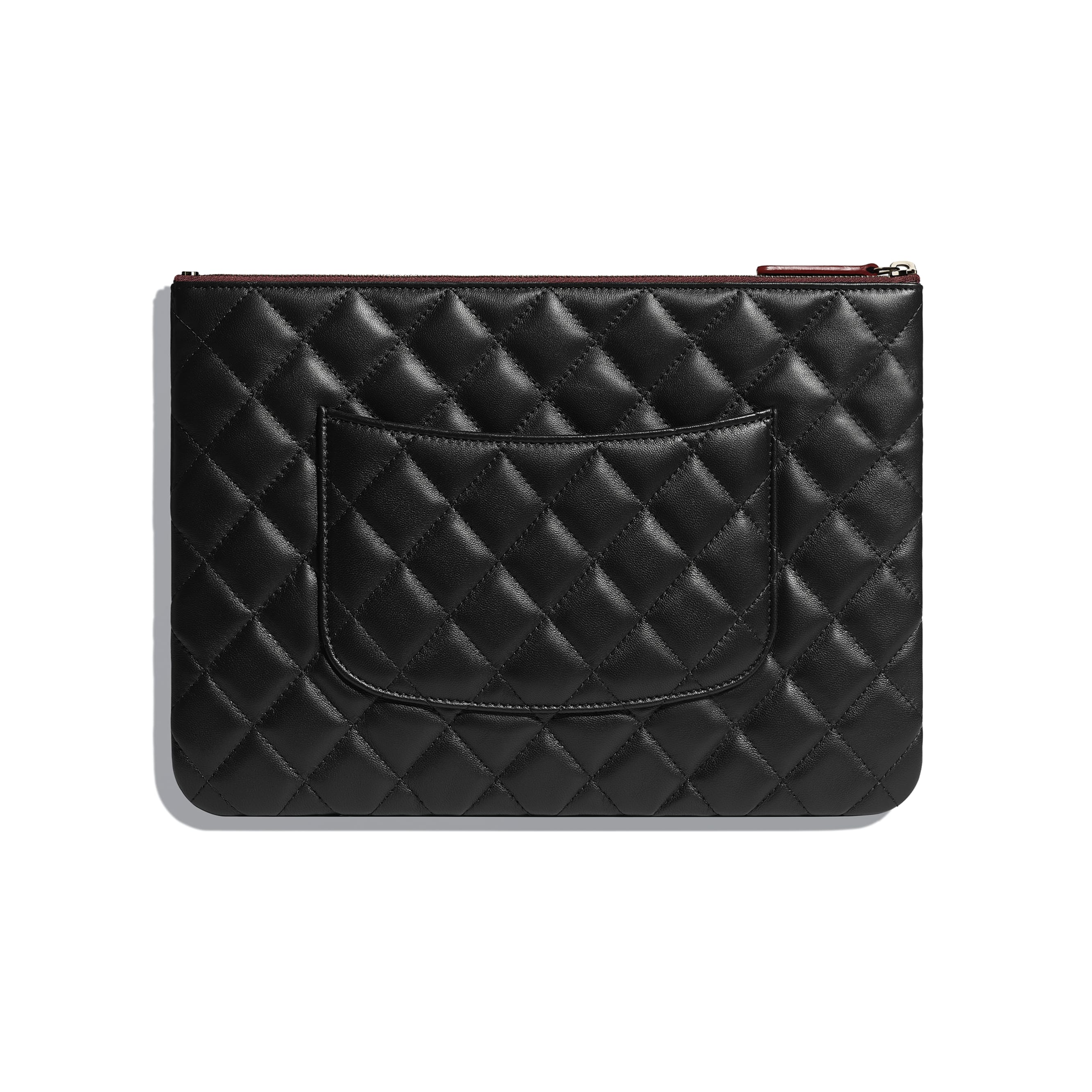 Classic Pouch - Black - Lambskin - CHANEL - Alternative view - see standard sized version