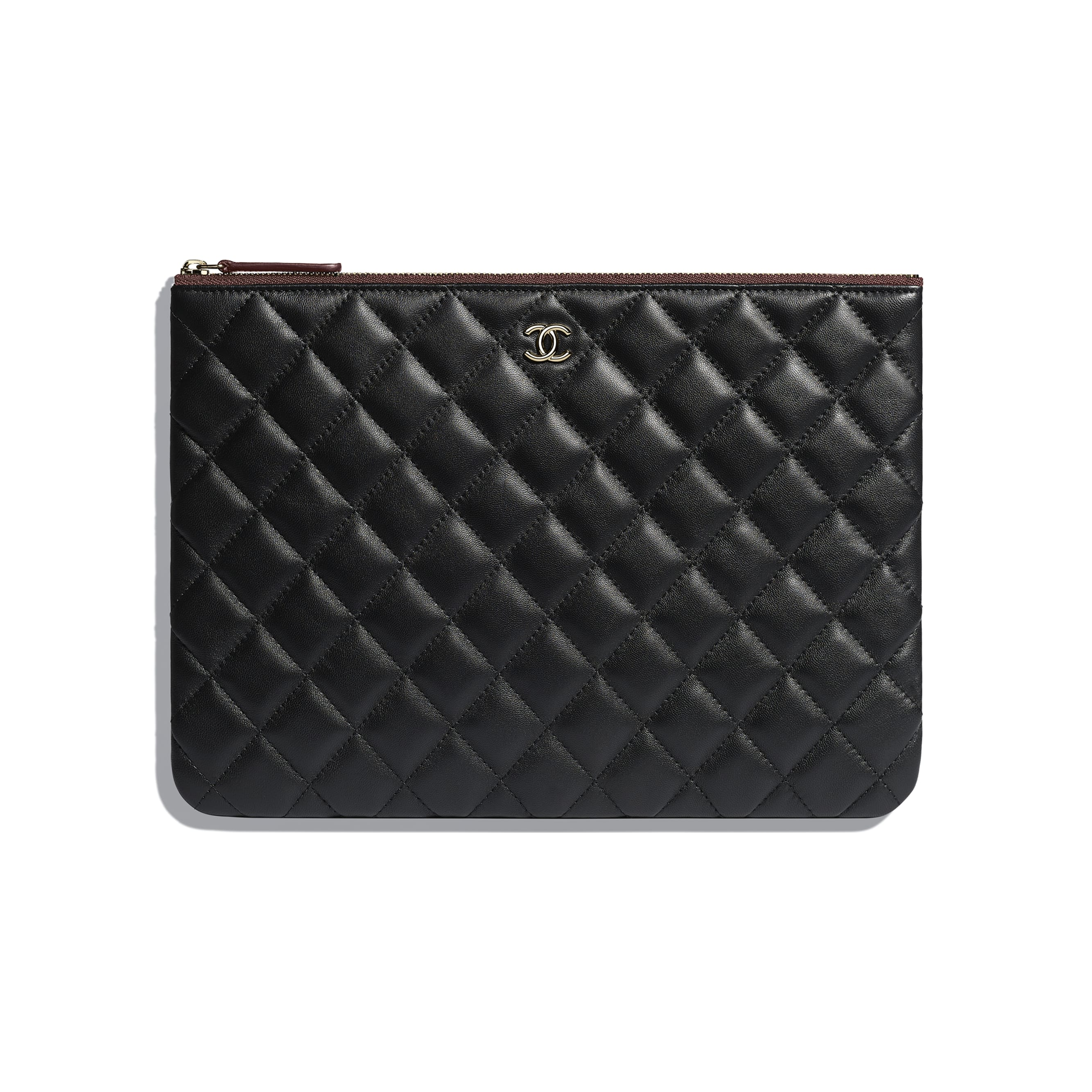 Classic Pouch - Black - Lambskin & Gold-Tone Metal - CHANEL - Default view - see standard sized version