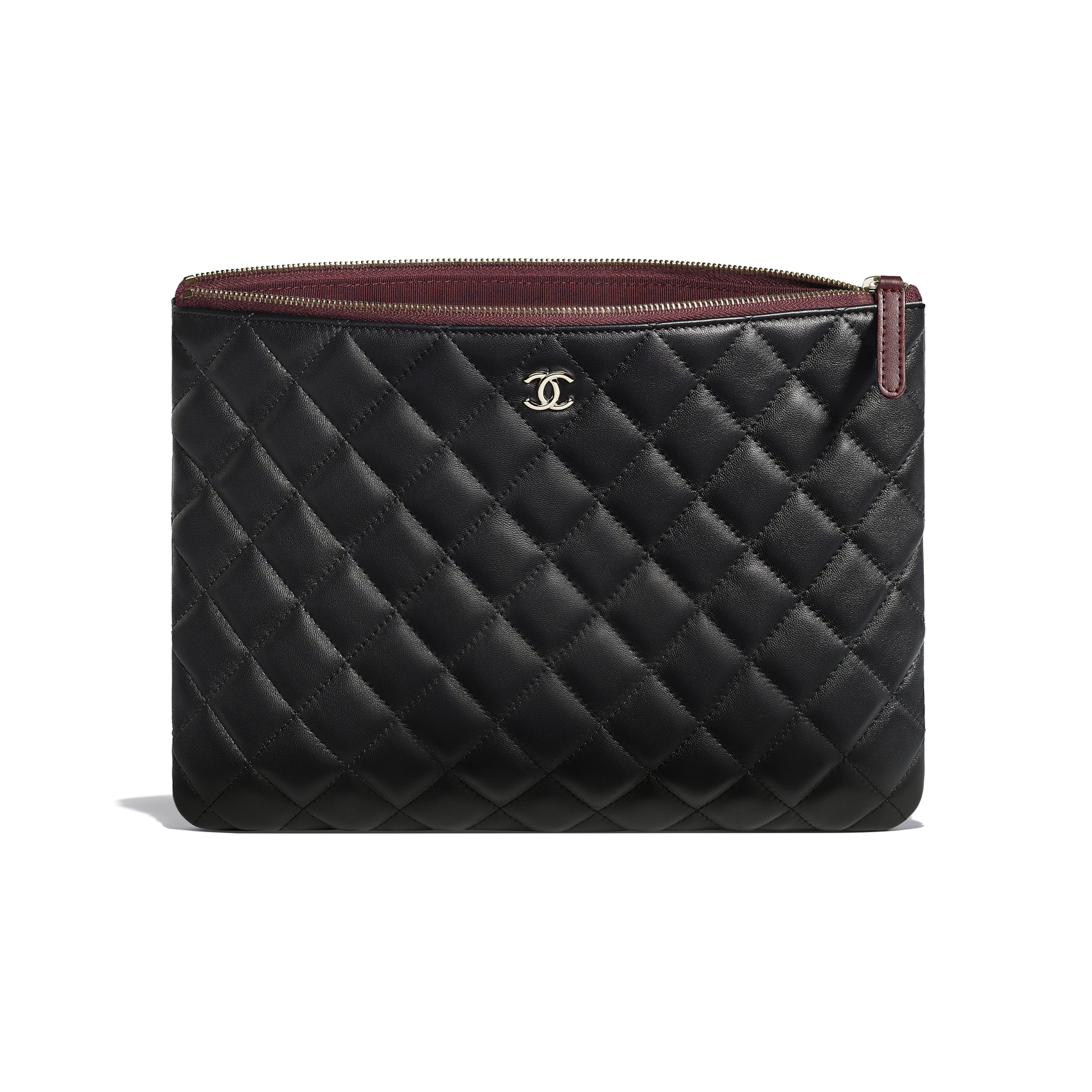 Classic Pouch - Black - Lambskin - CHANEL - Other view - see standard sized version