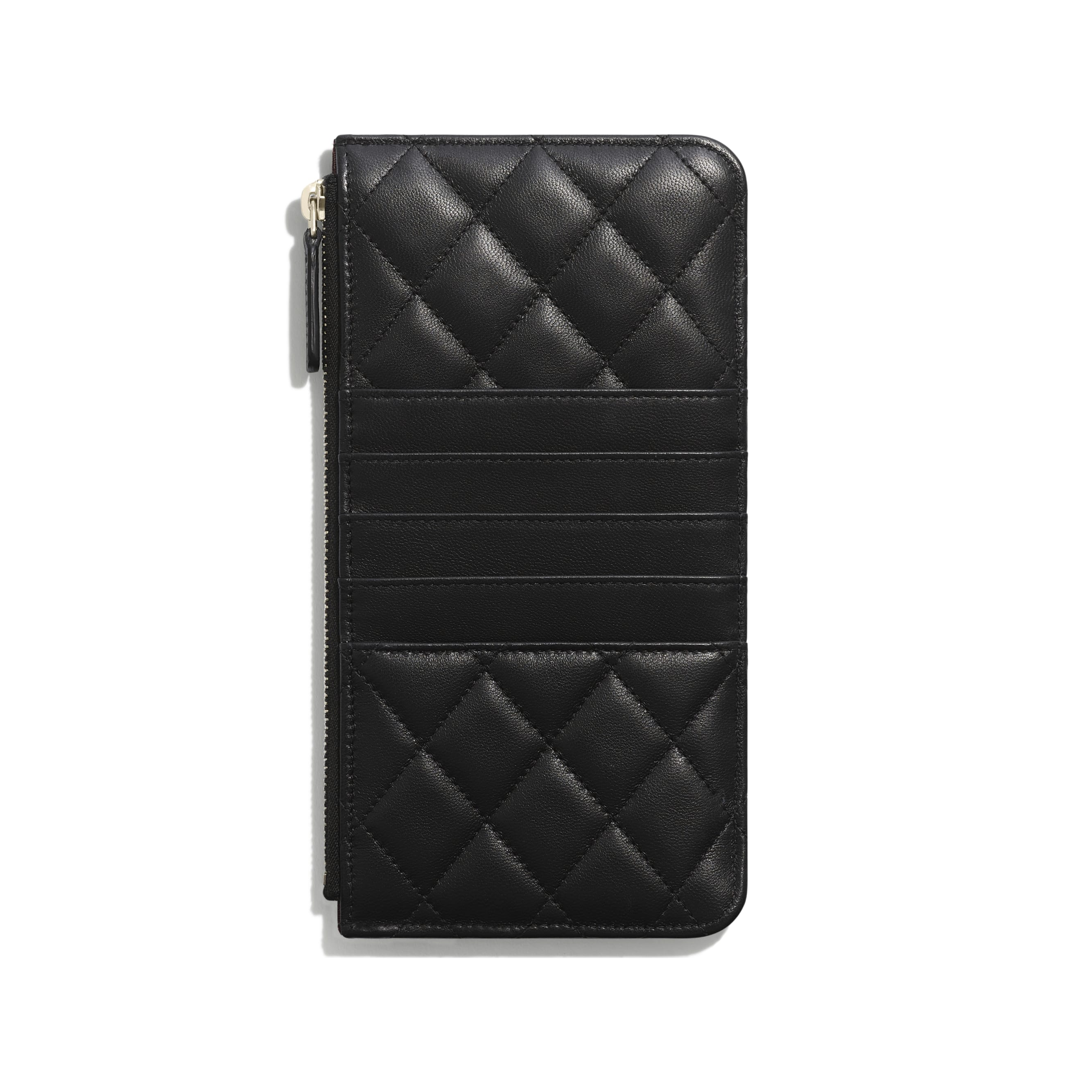 Classic Pouch for iPhone - Black - Lambskin & Gold-Tone Metal - Alternative view - see standard sized version