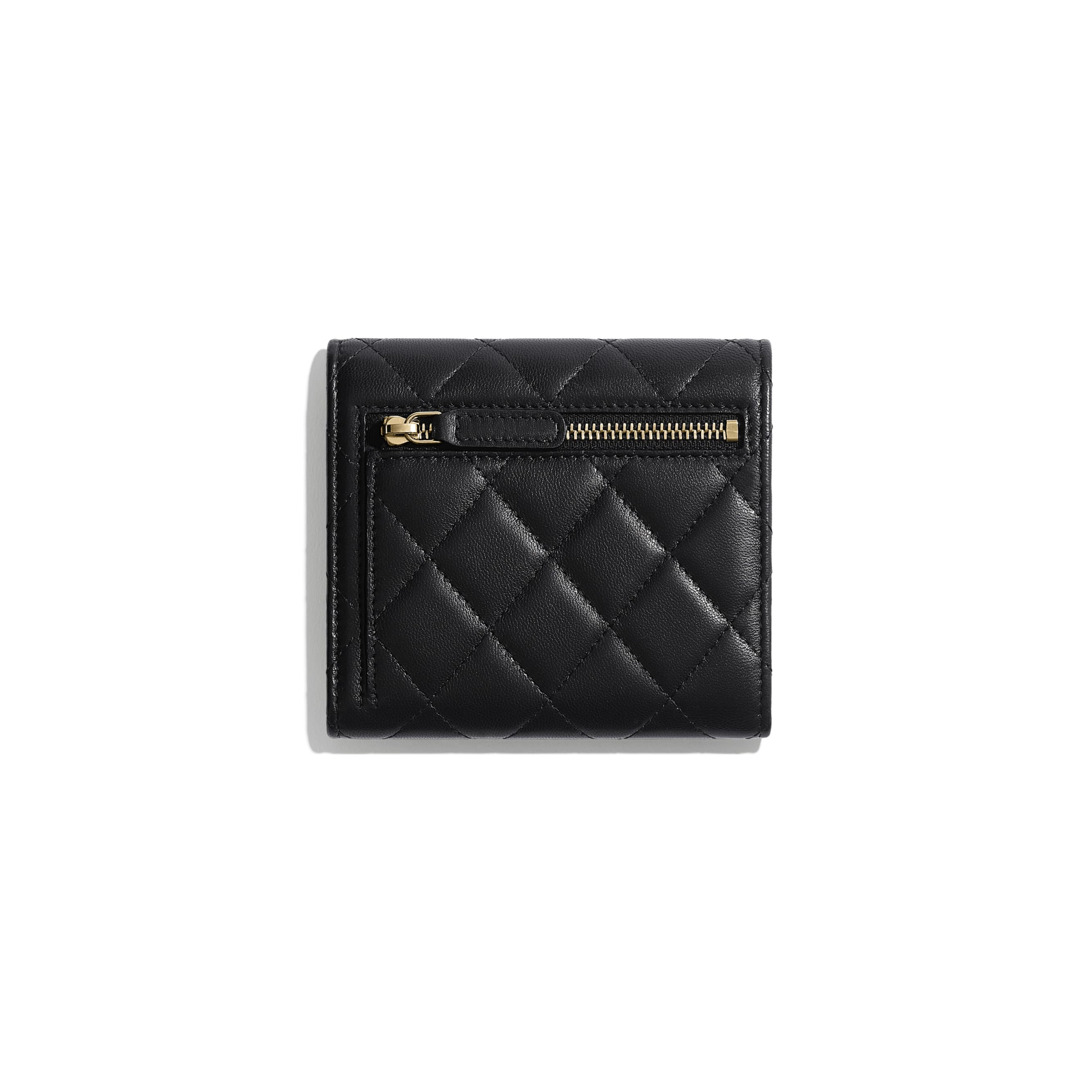 Classic Small Flap Wallet - Black - Lambskin - CHANEL - Alternative view - see standard sized version