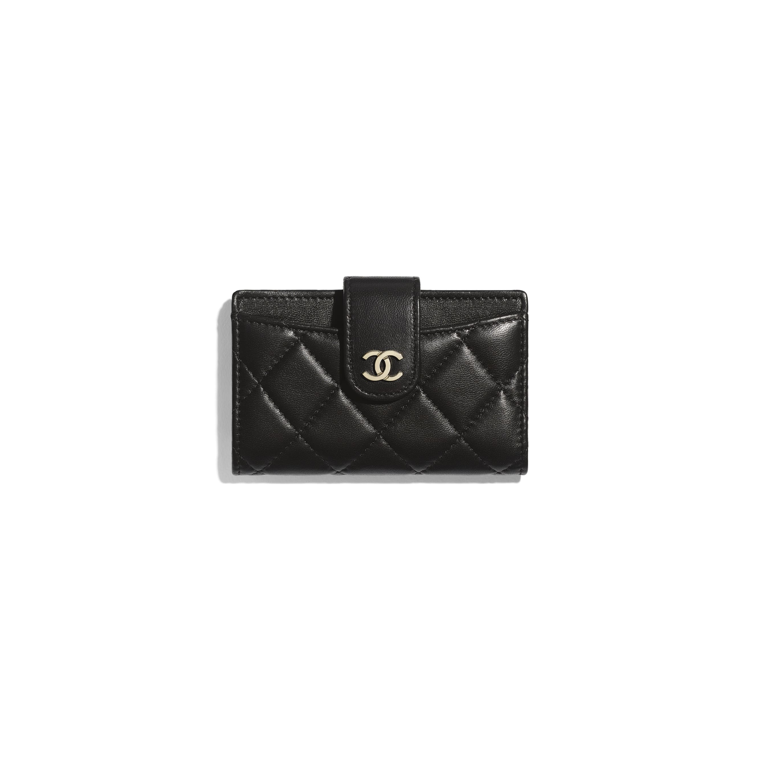 Classic Small Wallet - Black - Lambskin - CHANEL - Default view - see standard sized version