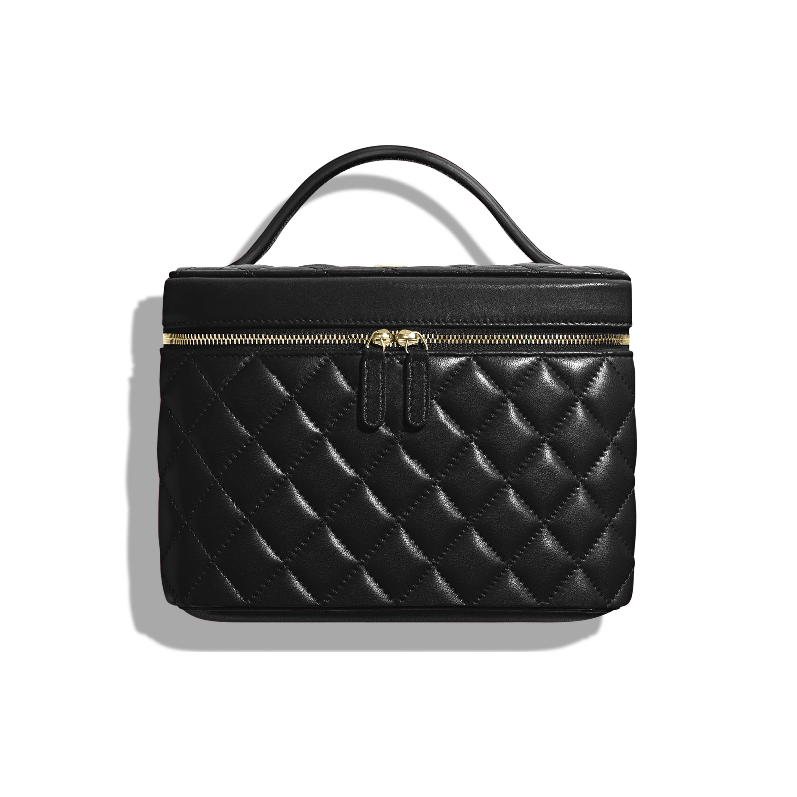 Classic Vanity Pouch - Black - Lambskin - CHANEL - Default view - see standard sized version