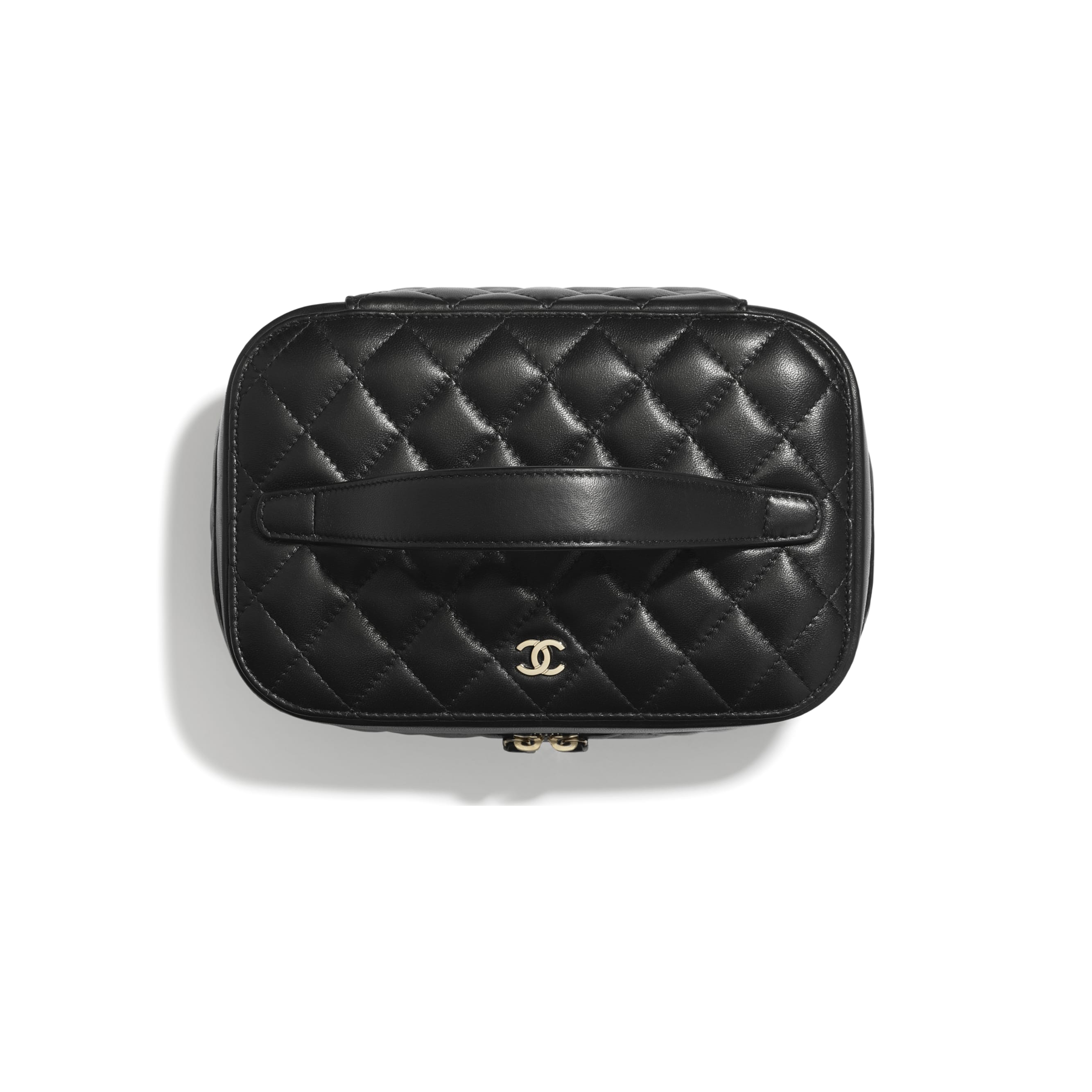 Classic Vanity Pouch - Black - Lambskin - CHANEL - Other view - see standard sized version