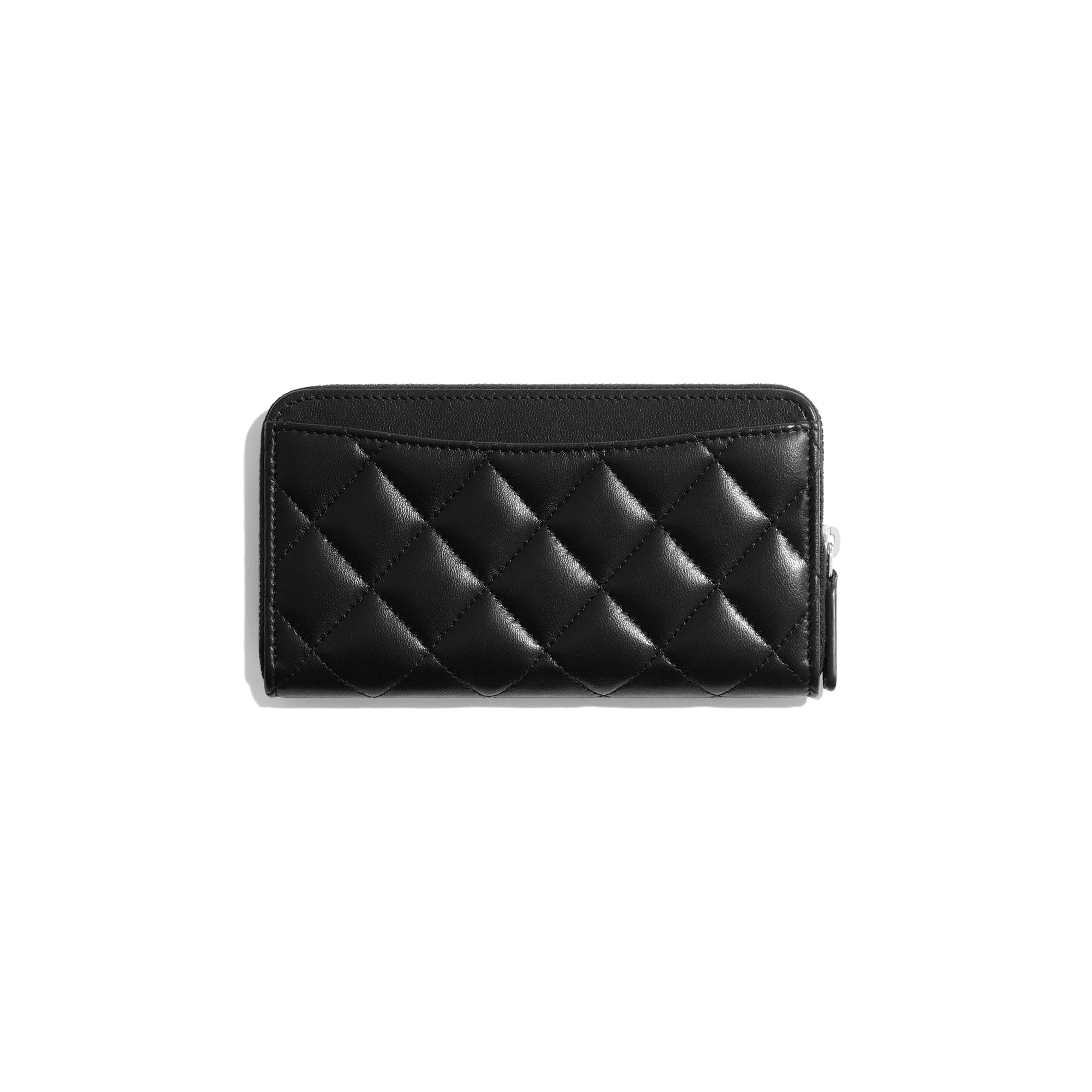 Classic Zipped Wallet - Black - Lambskin - Alternative view - see standard sized version