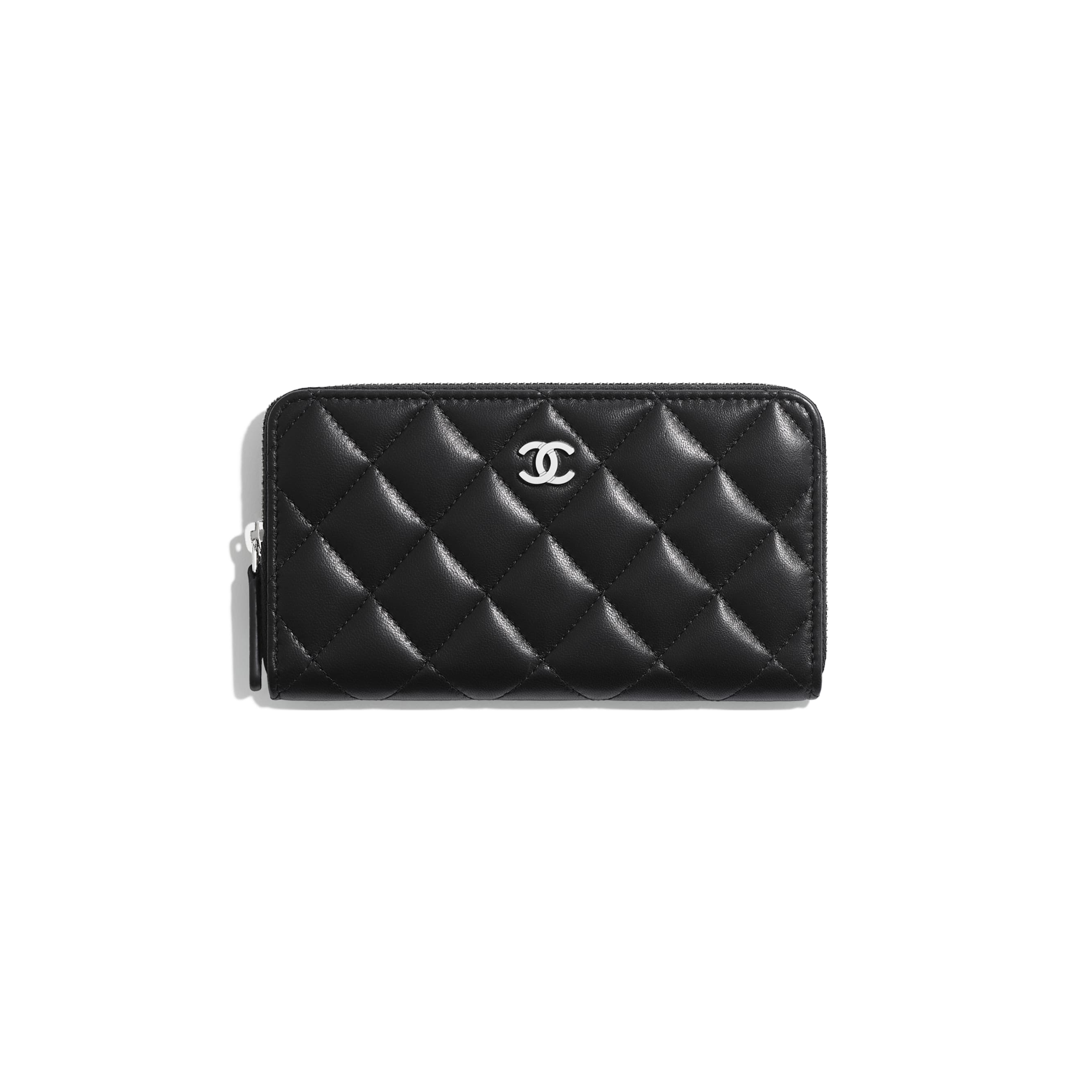 Classic Zipped Wallet - Black - Lambskin - Default view - see standard sized version