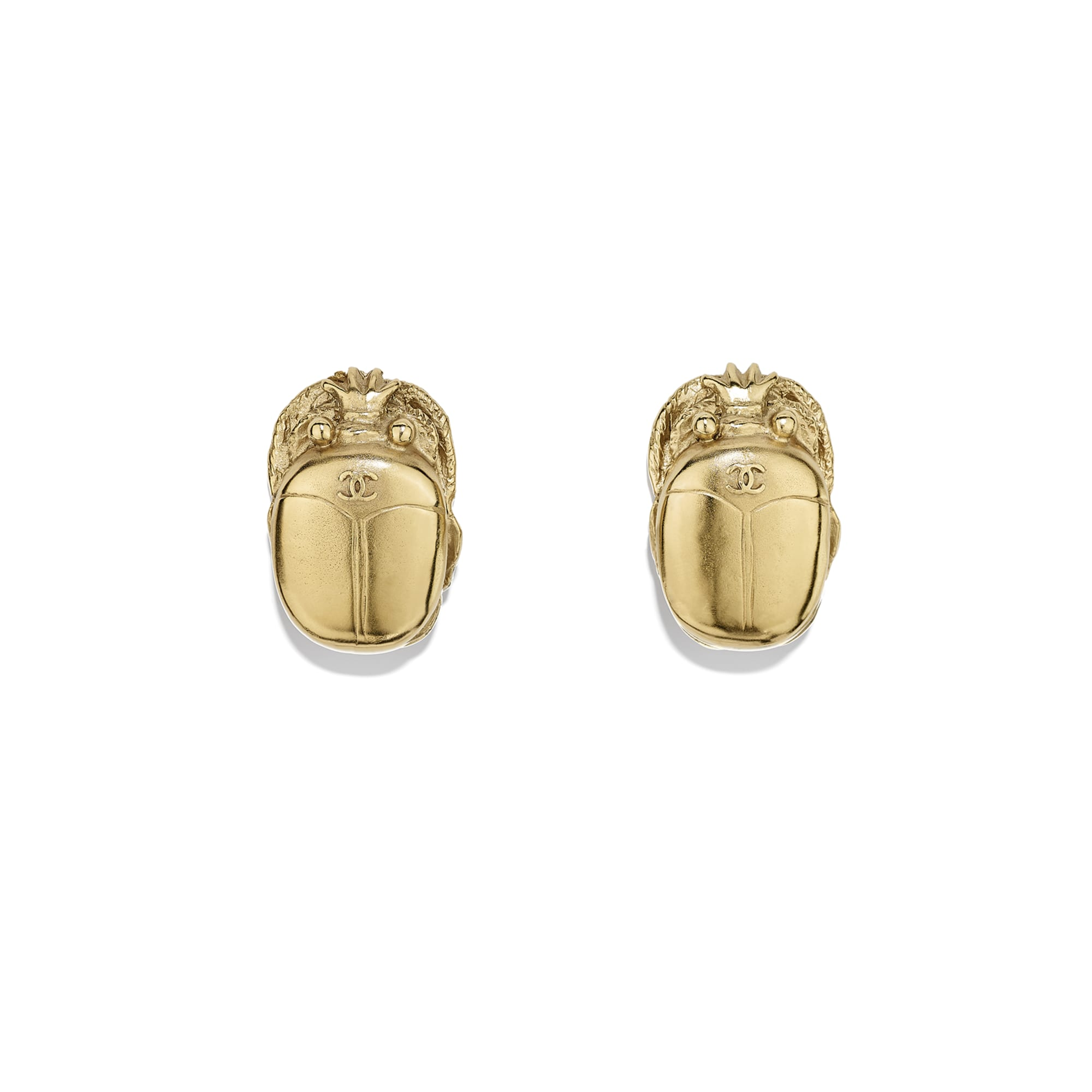 Clip-on Earrings - Gold - Metal - Default view - see standard sized version