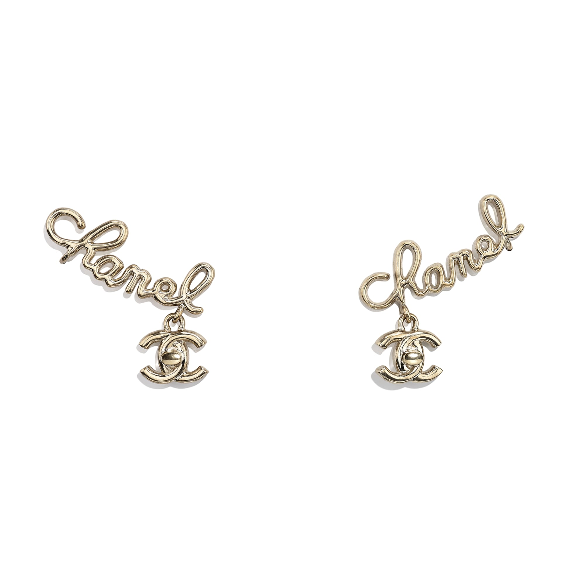 Clip-On Earrings - Gold - Metal - CHANEL - Default view - see standard sized version