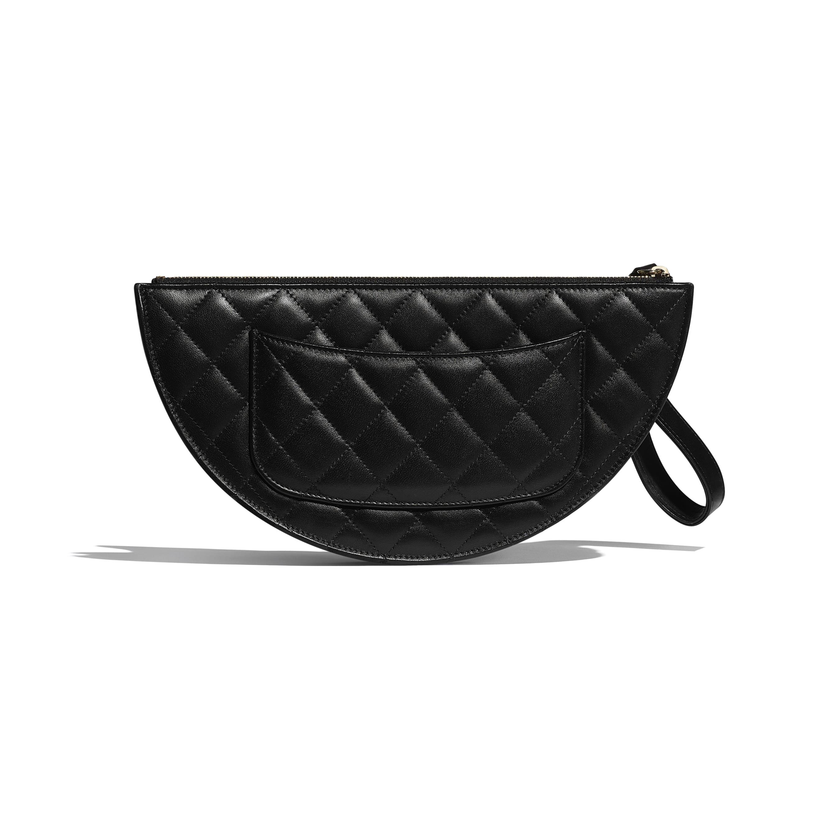 Clutch - Black - Lambskin - Alternative view - see standard sized version