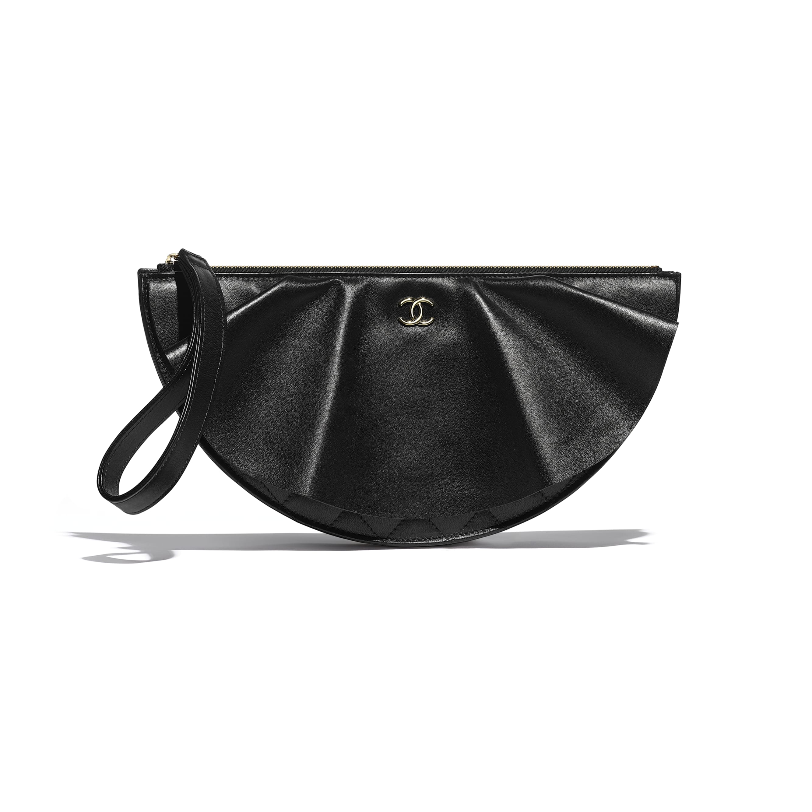 Clutch - Black - Lambskin - Default view - see standard sized version