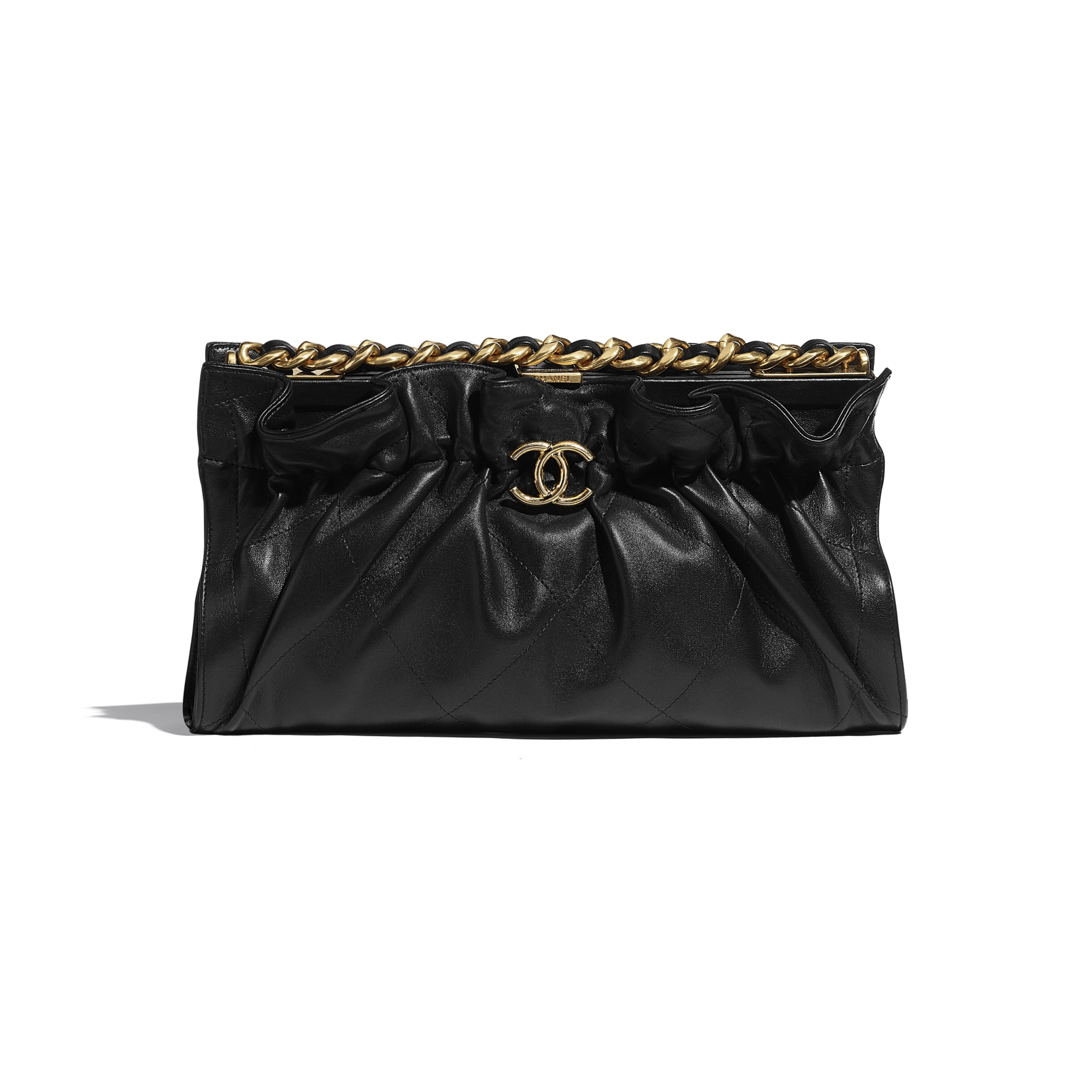 Clutch - Black - Lambskin - CHANEL - Default view - see standard sized version