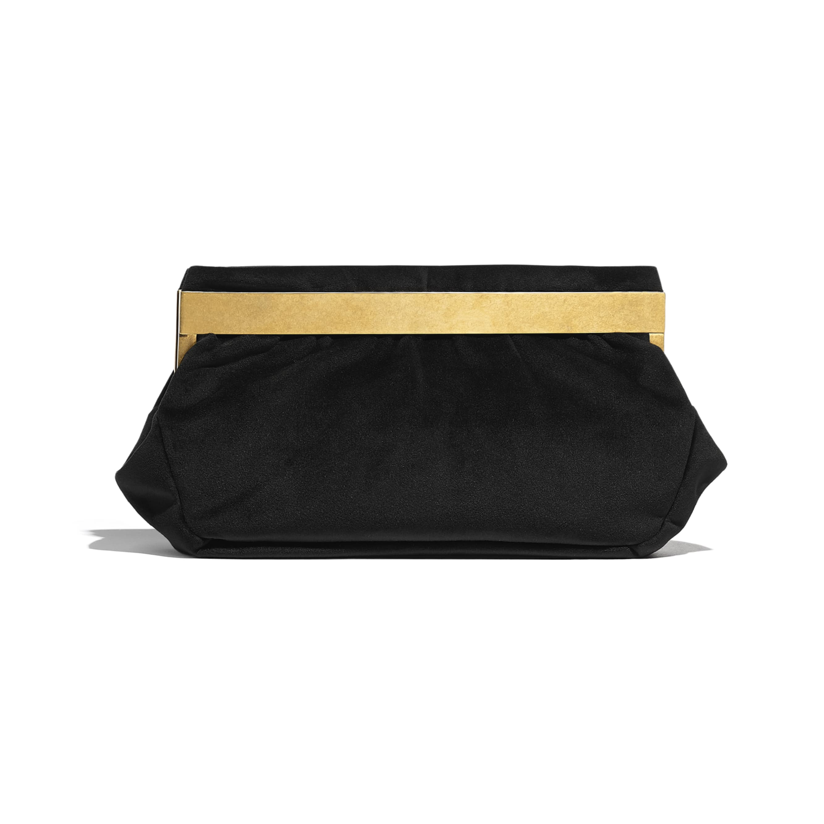 Clutch - Black - Velvet, Brass, Charms & Gold-Tone Metal - CHANEL - Alternative view - see standard sized version