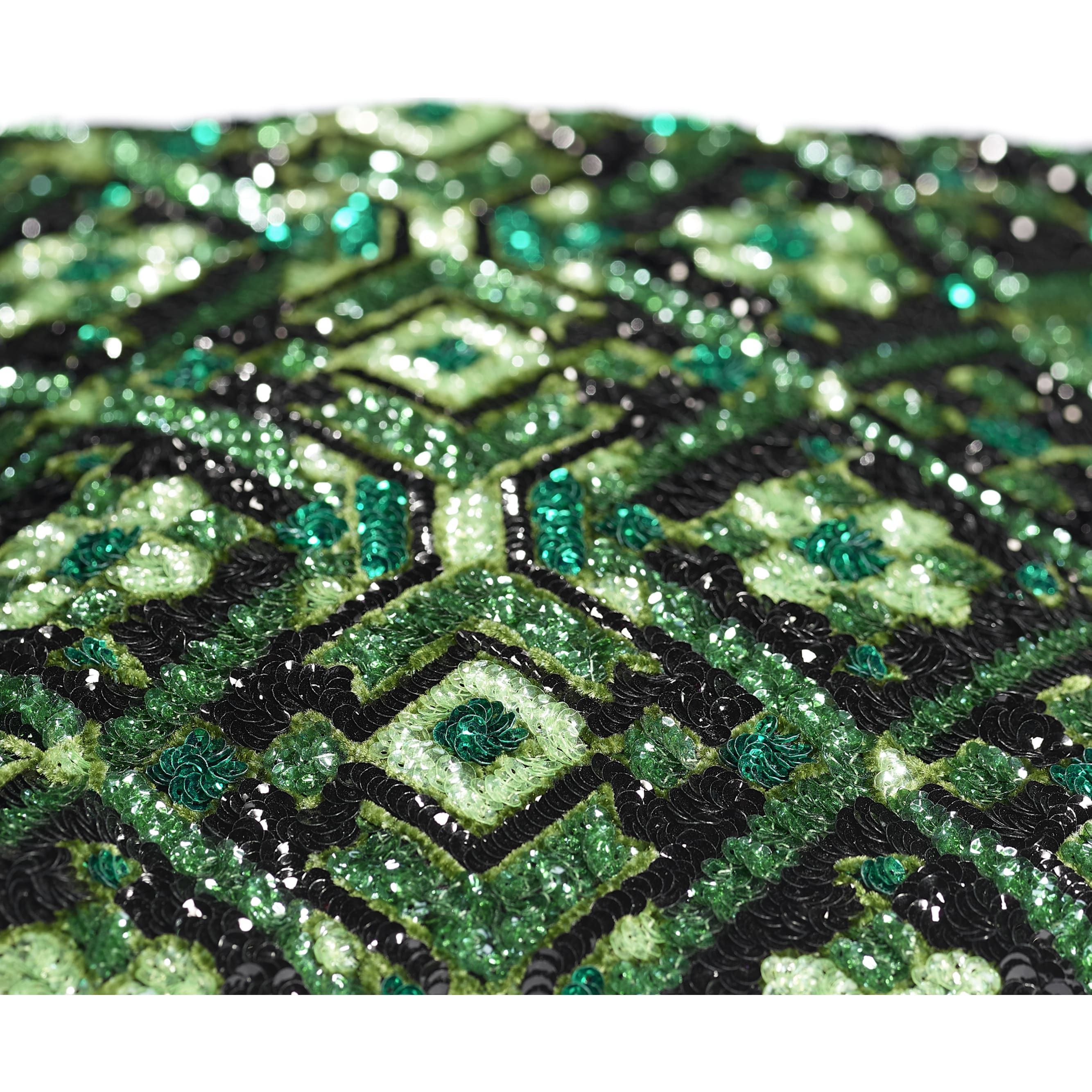 Clutch - Green & Black - Sequins & Gold-Tone Metal - CHANEL - Extra view - see standard sized version
