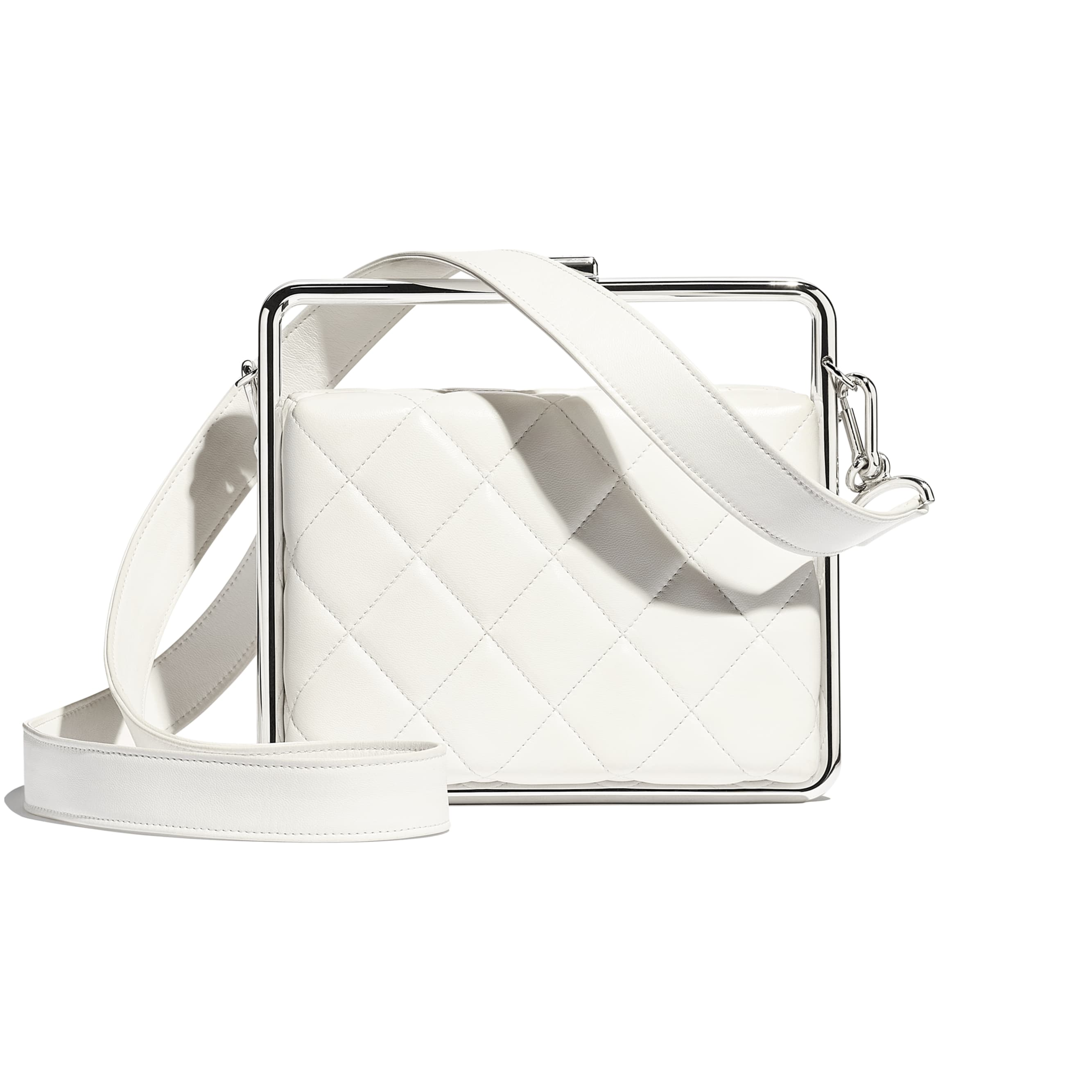 Clutch - White - Lambskin - Alternative view - see standard sized version