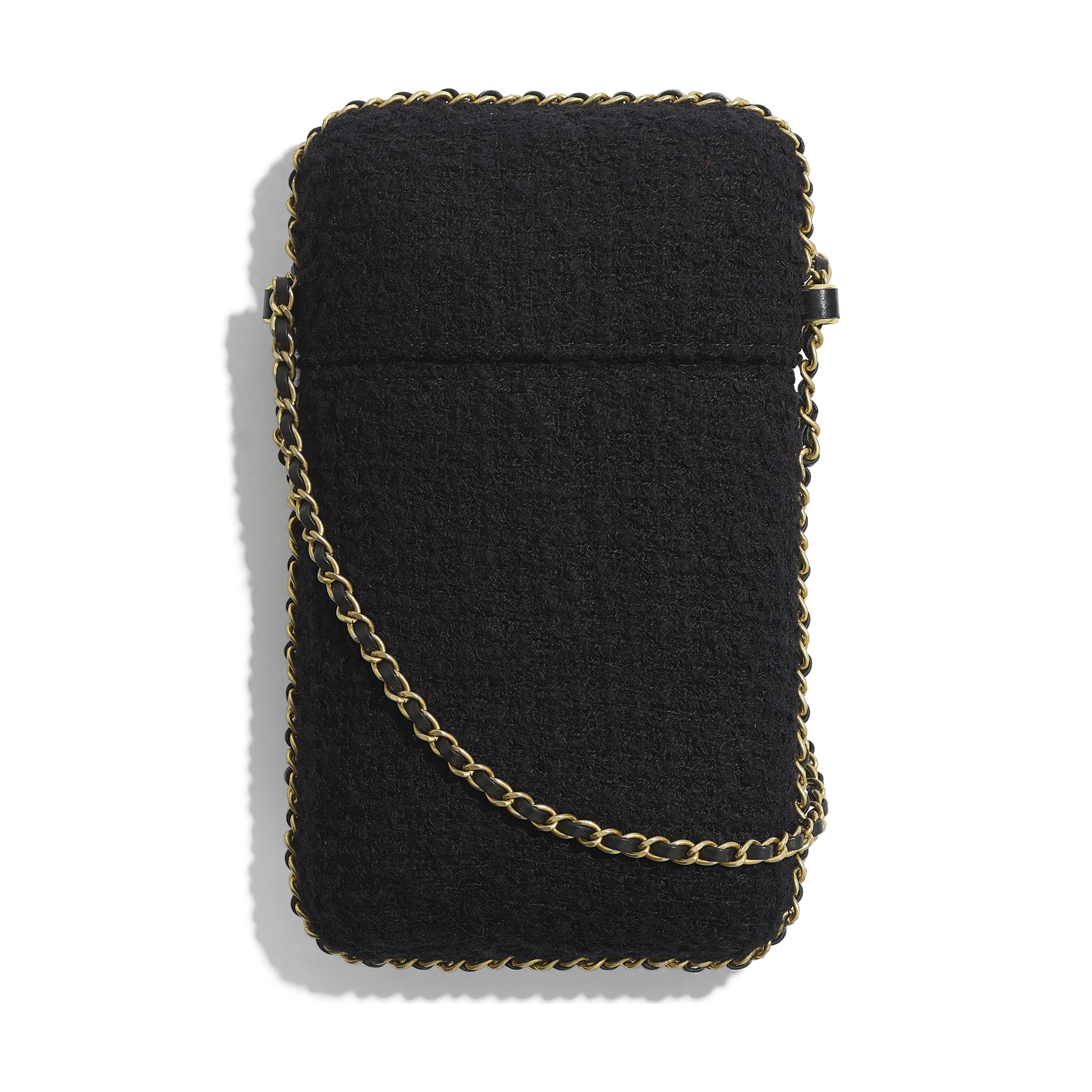 Clutch With Chain - Black & Gold - Tweed, Resin, Imitation Pearls, Diamante & Gold-Tone Metal - CHANEL - Alternative view - see standard sized version
