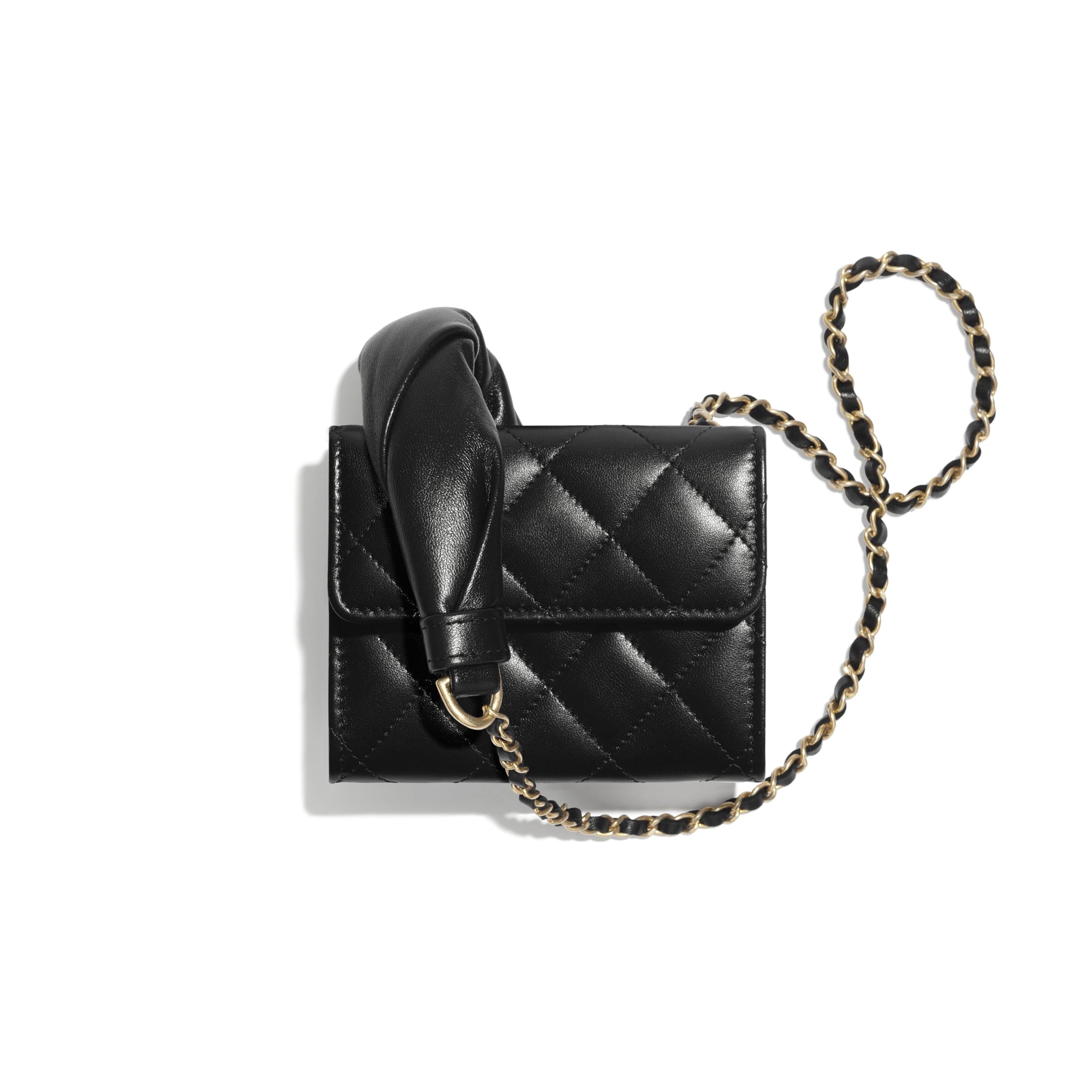 Clutch With Chain - Black - Lambskin - CHANEL - Alternative view - see standard sized version