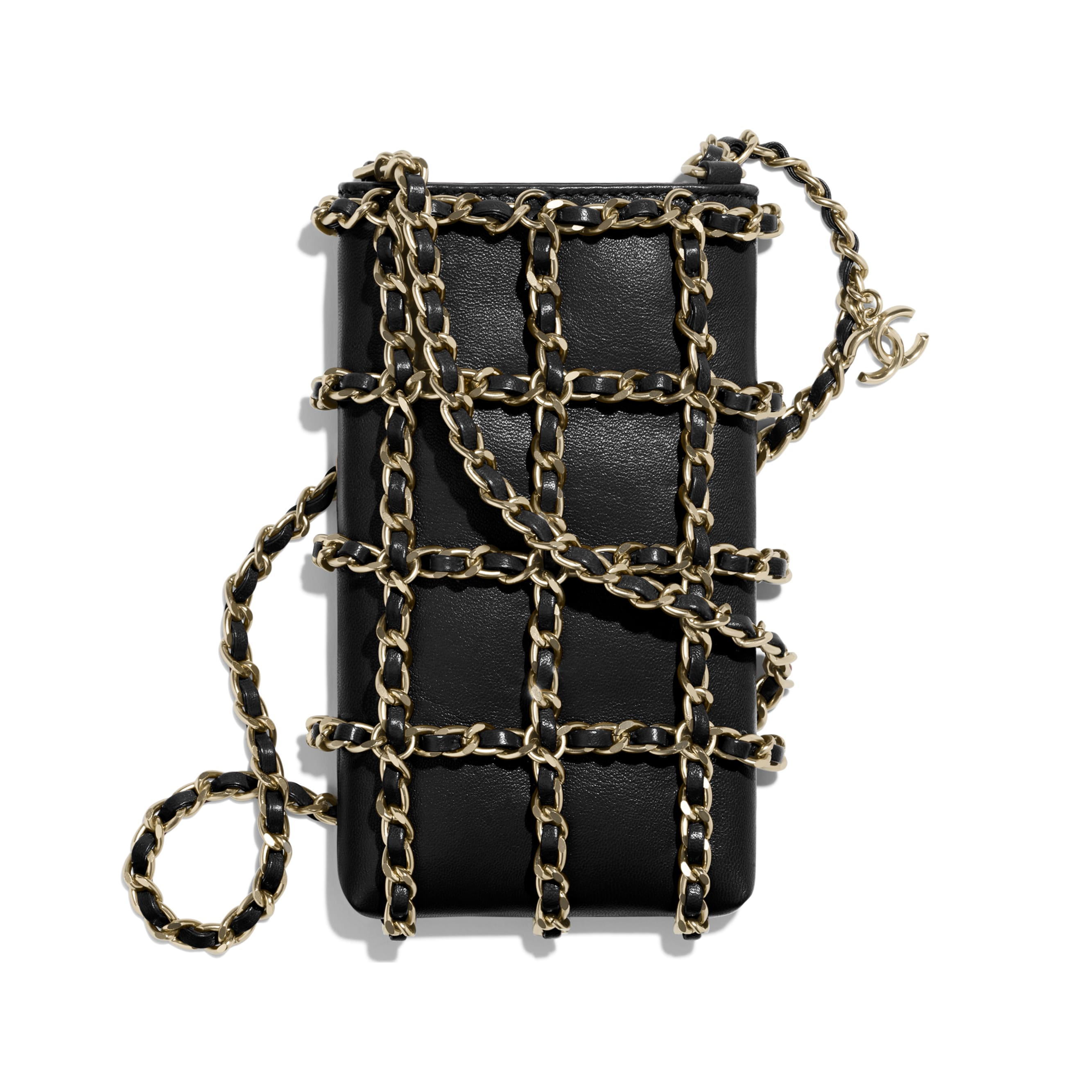 Clutch With Chain - Black - Lambskin - CHANEL - Default view - see standard sized version