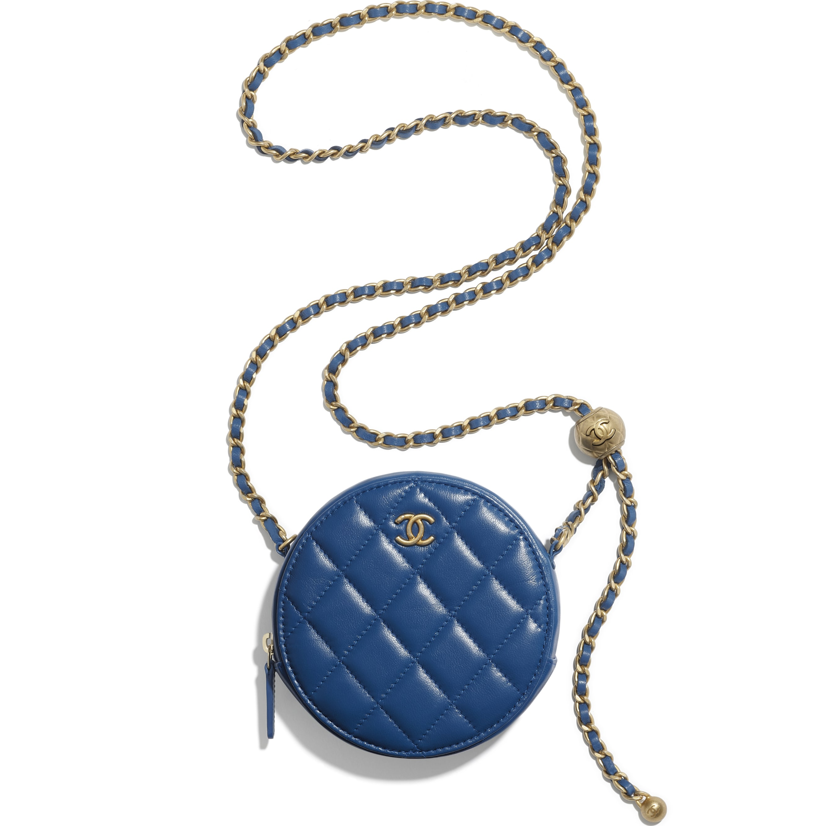 Clutch With Chain - Blue - Lambskin - CHANEL - Alternative view - see standard sized version