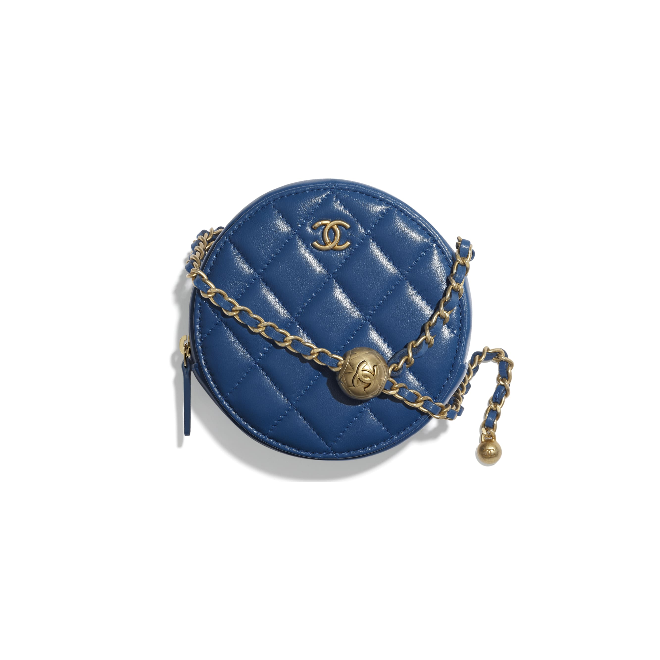 Clutch With Chain - Blue - Lambskin - CHANEL - Default view - see standard sized version