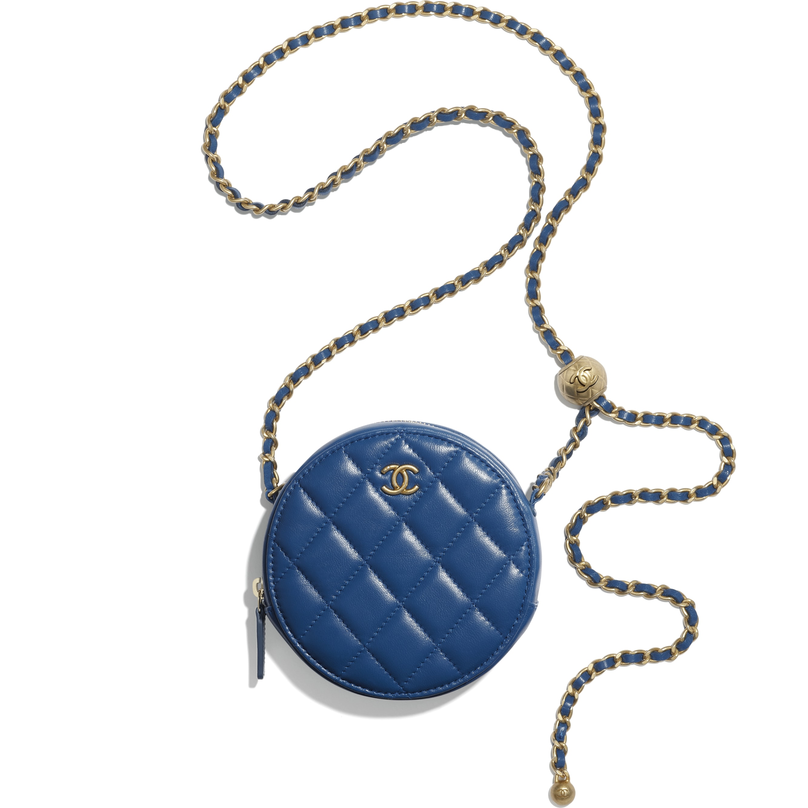 Clutch With Chain - Blue - Lambskin - CHANEL - Other view - see standard sized version