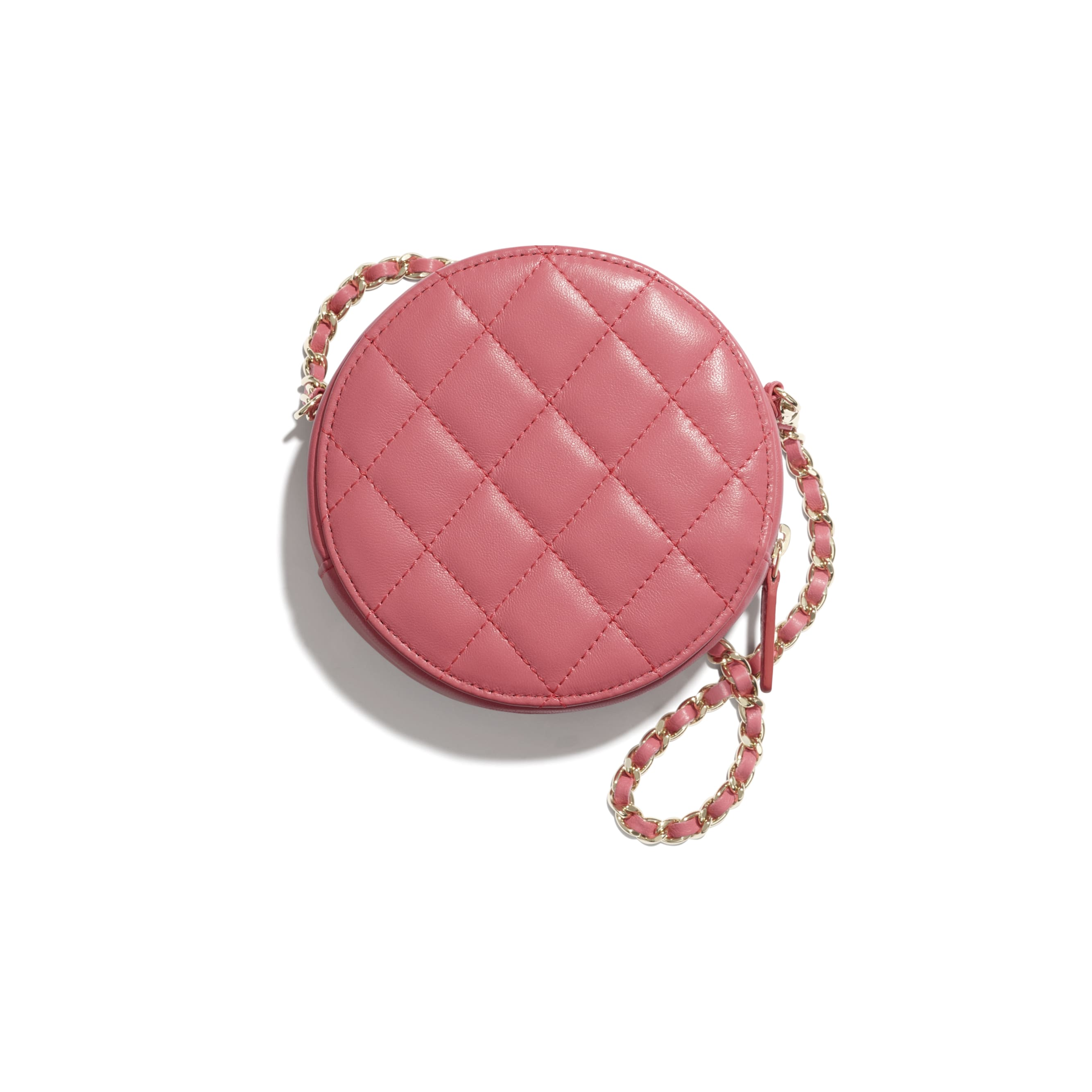Clutch With Chain - Coral - Lambskin - CHANEL - Other view - see standard sized version