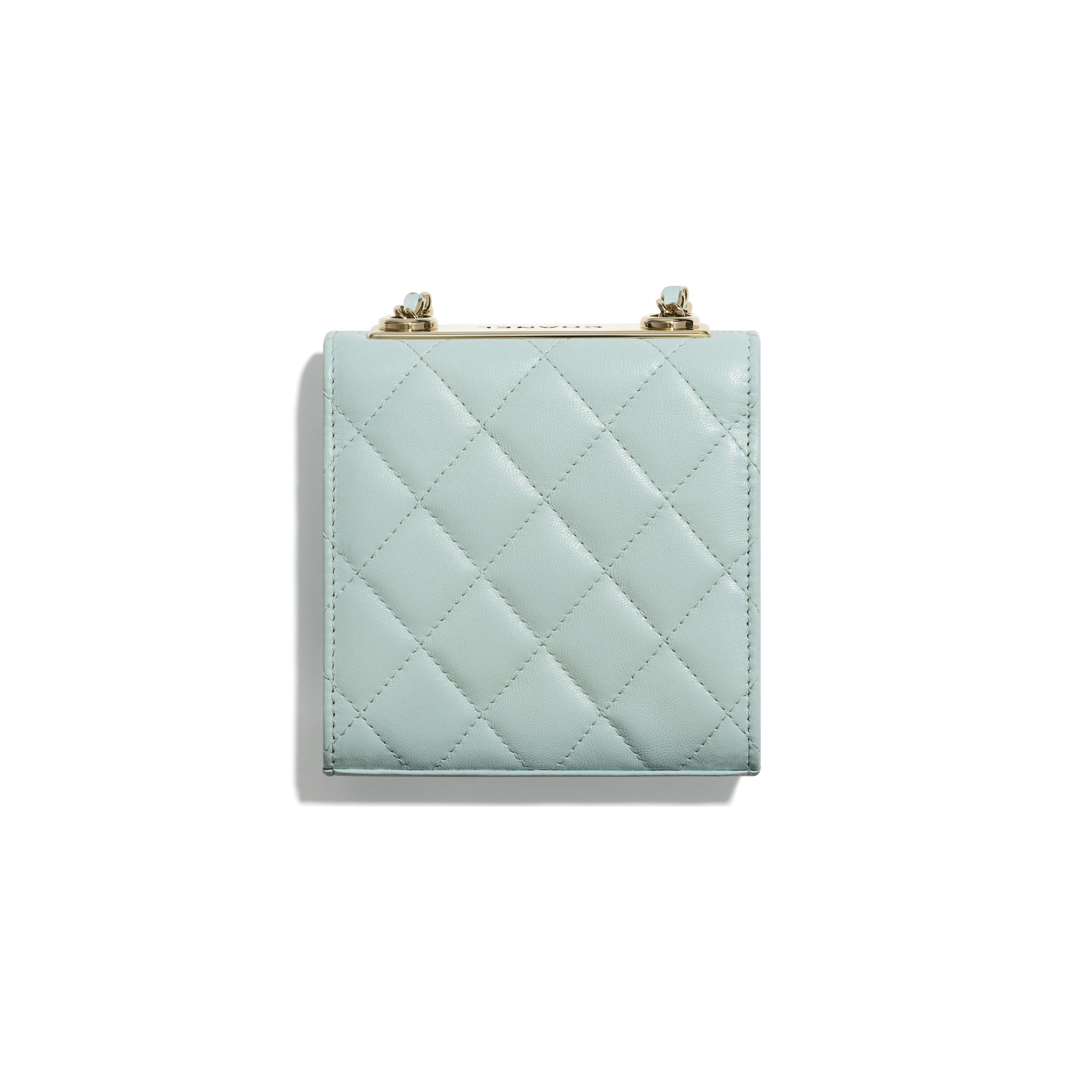 Clutch With Chain - Light Blue - Lambskin - CHANEL - Alternative view - see standard sized version