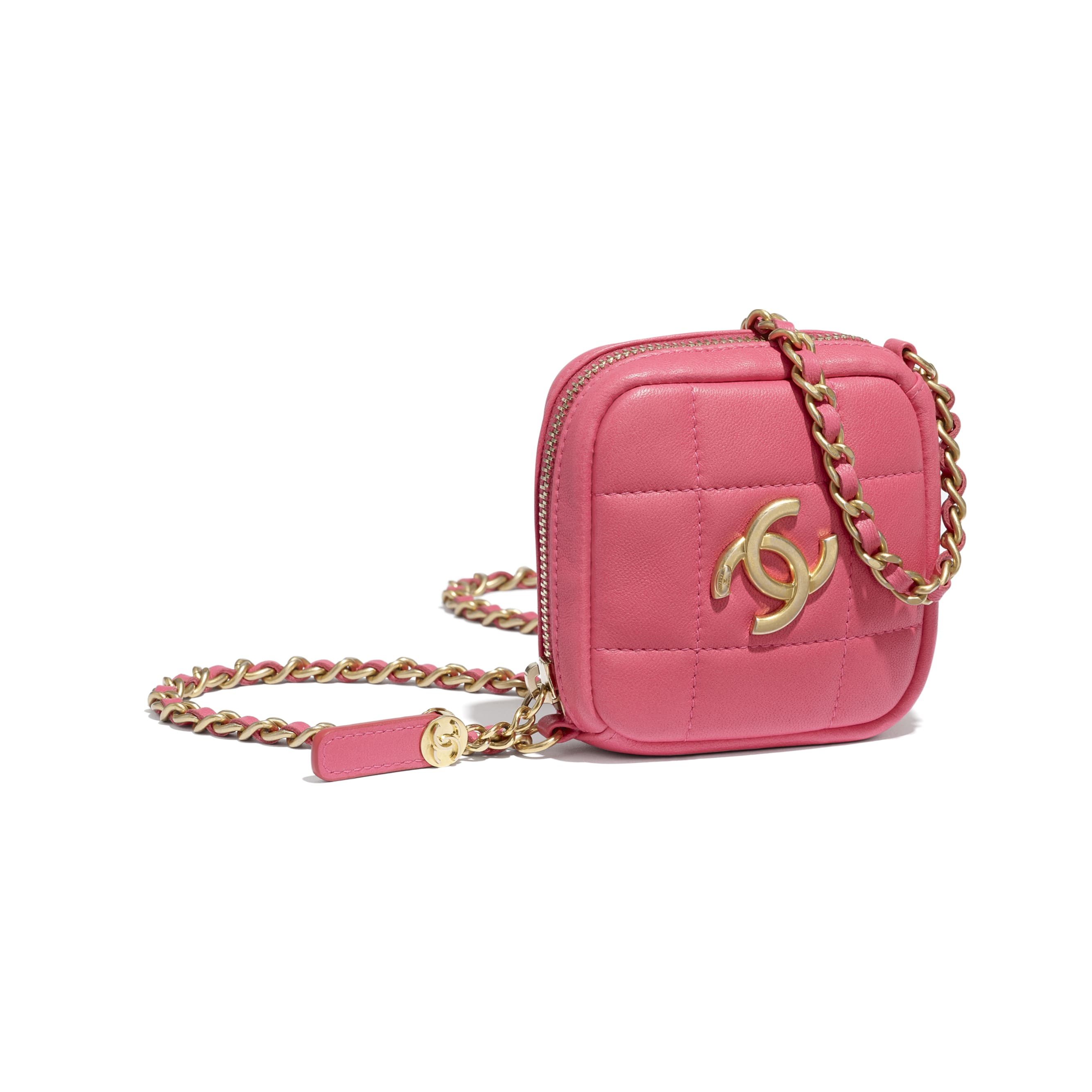 Clutch With Chain - Pink - Lambskin - CHANEL - Extra view - see standard sized version