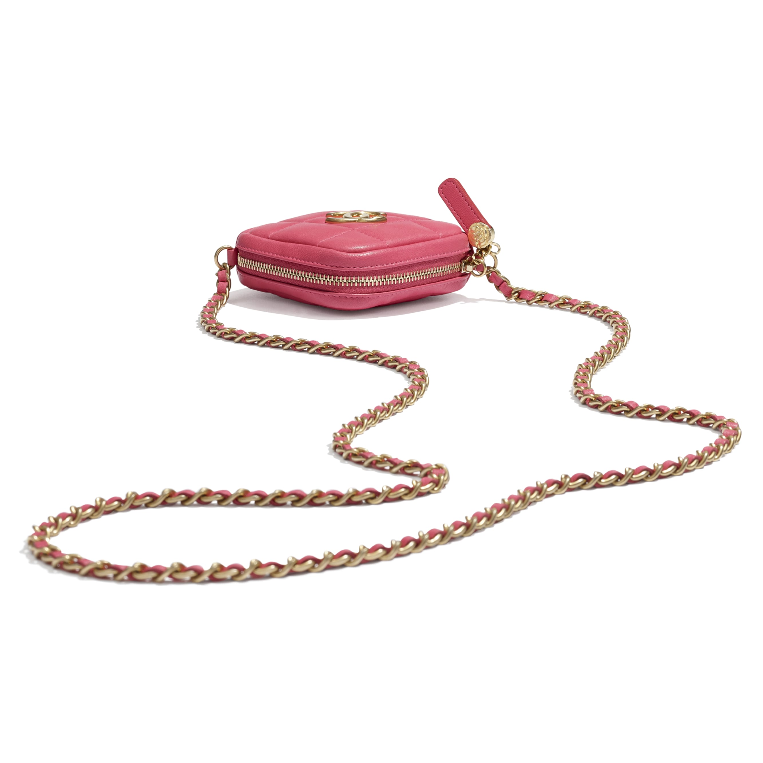 Clutch With Chain - Pink - Lambskin - CHANEL - Other view - see standard sized version