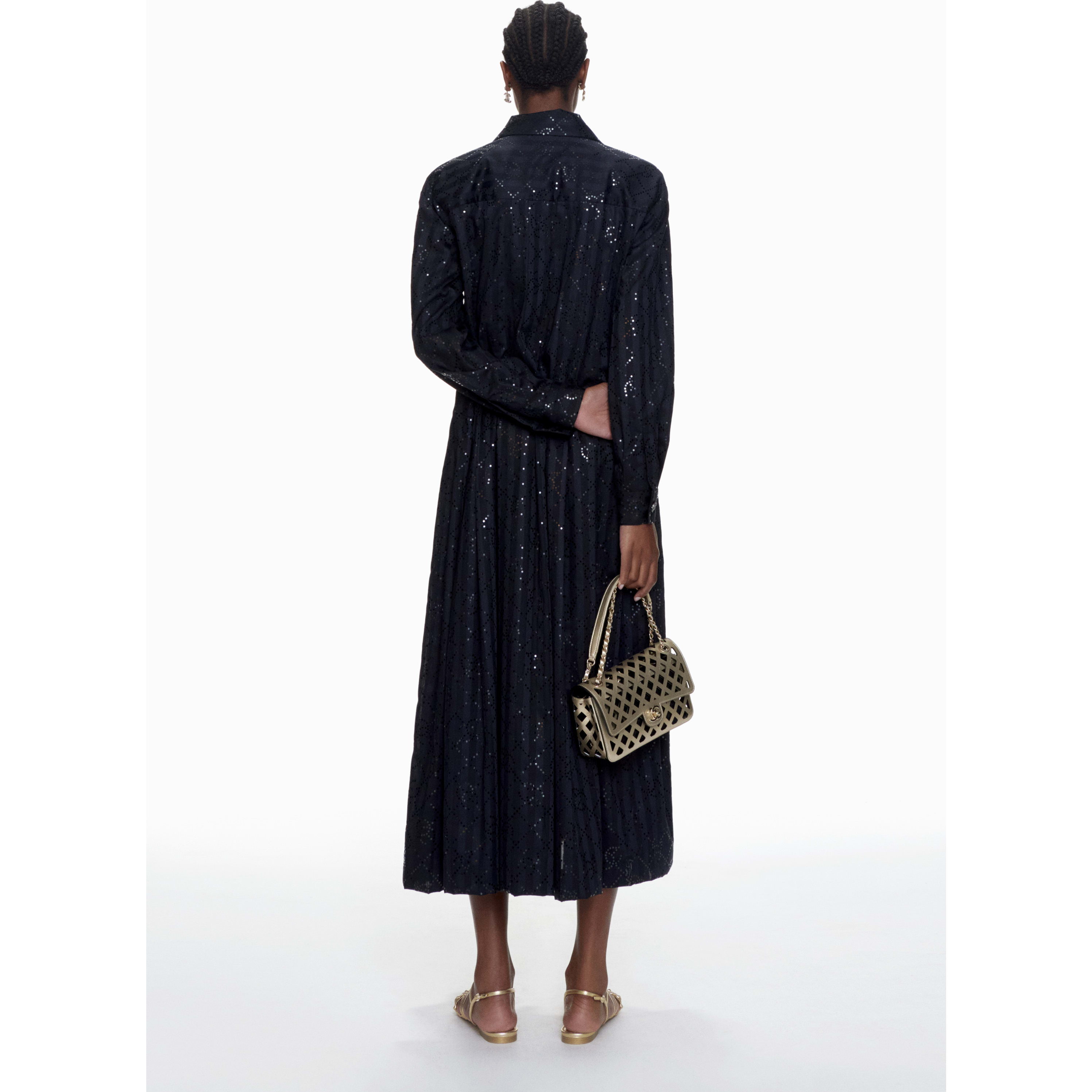 Coat - Black - Cotton & Mixed Fibres - CHANEL - Alternative view - see standard sized version