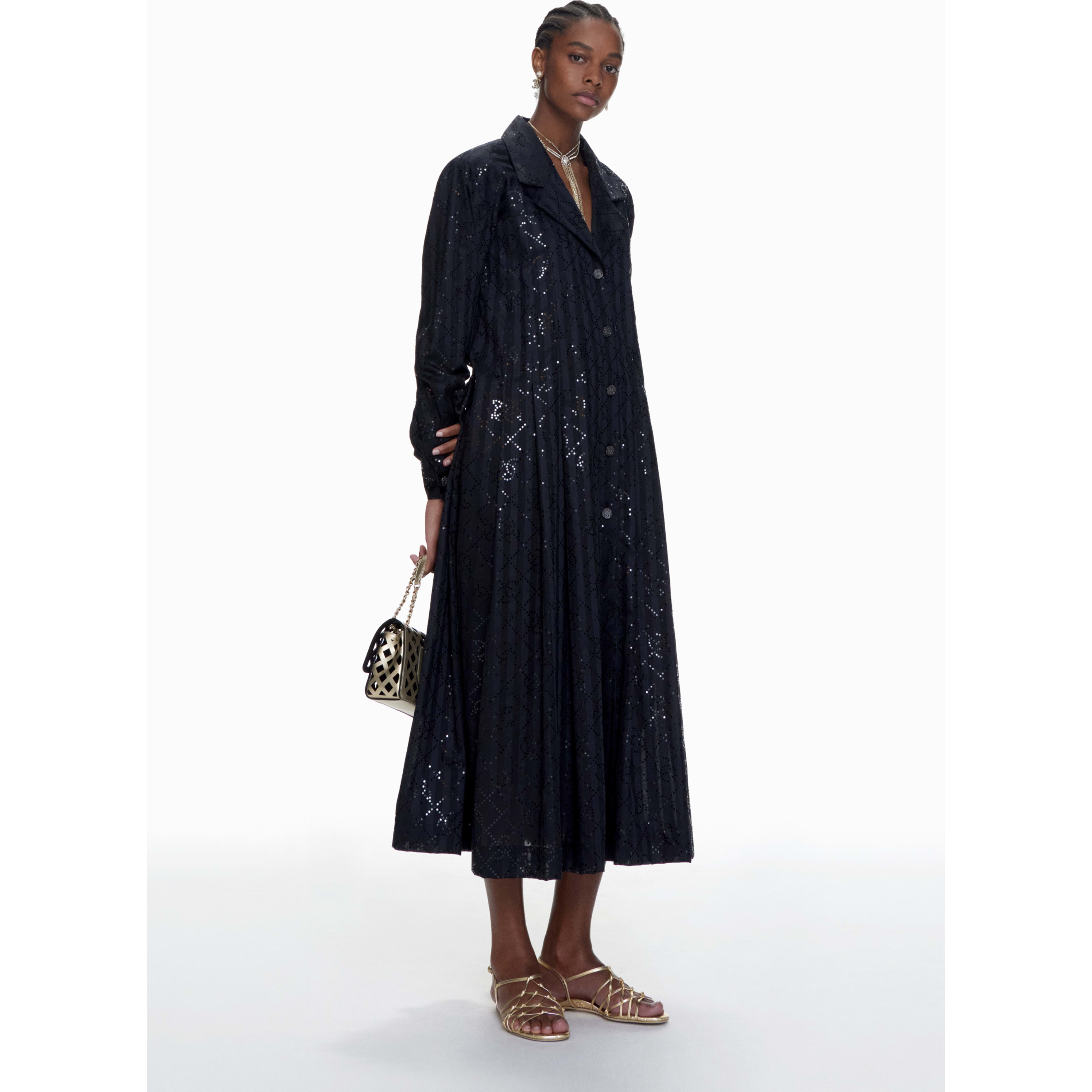 Coat - Black - Cotton & Mixed Fibres - CHANEL - Default view - see standard sized version