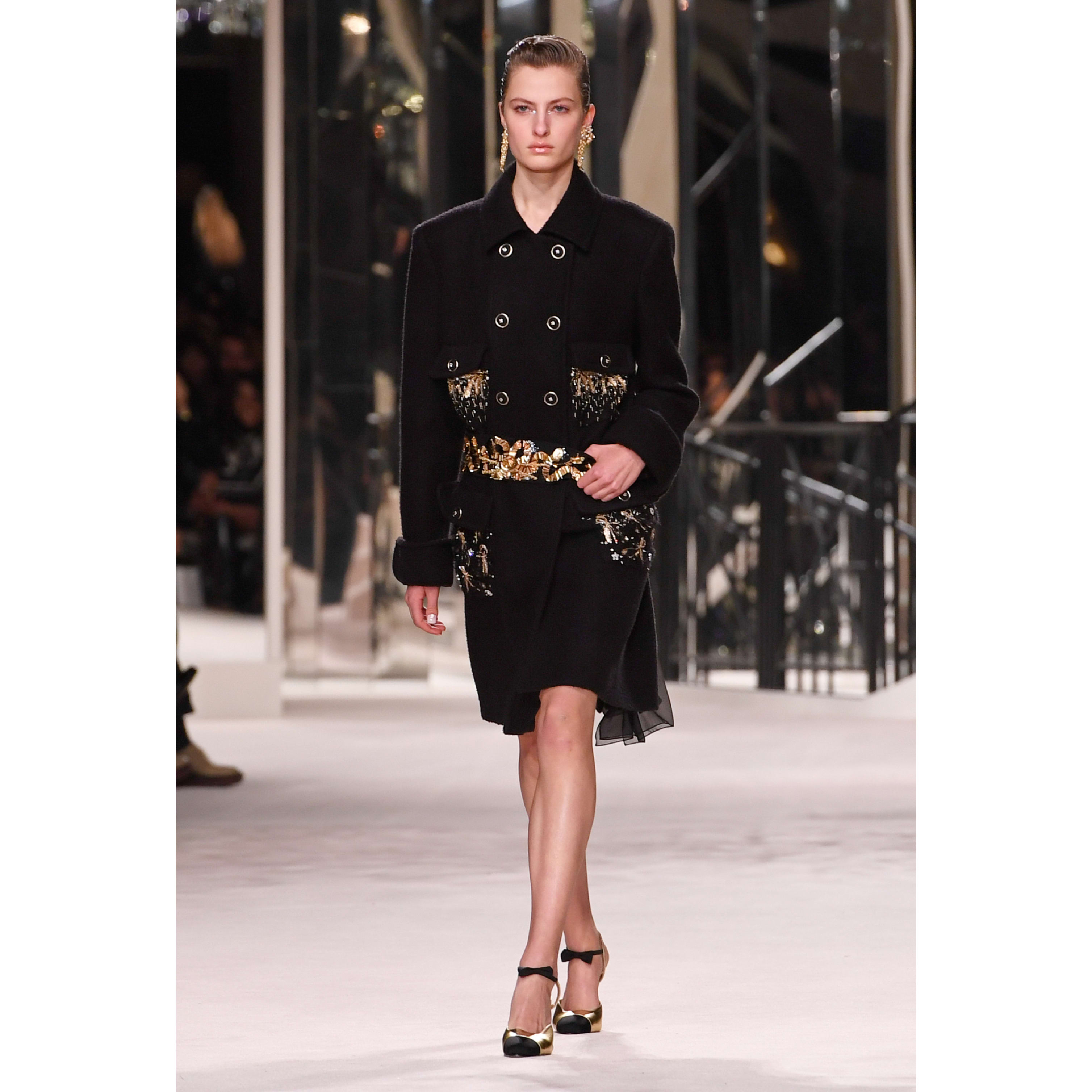 Coat - Black - Embroidered Wool & Cashmere Tweed - CHANEL - Default view - see standard sized version