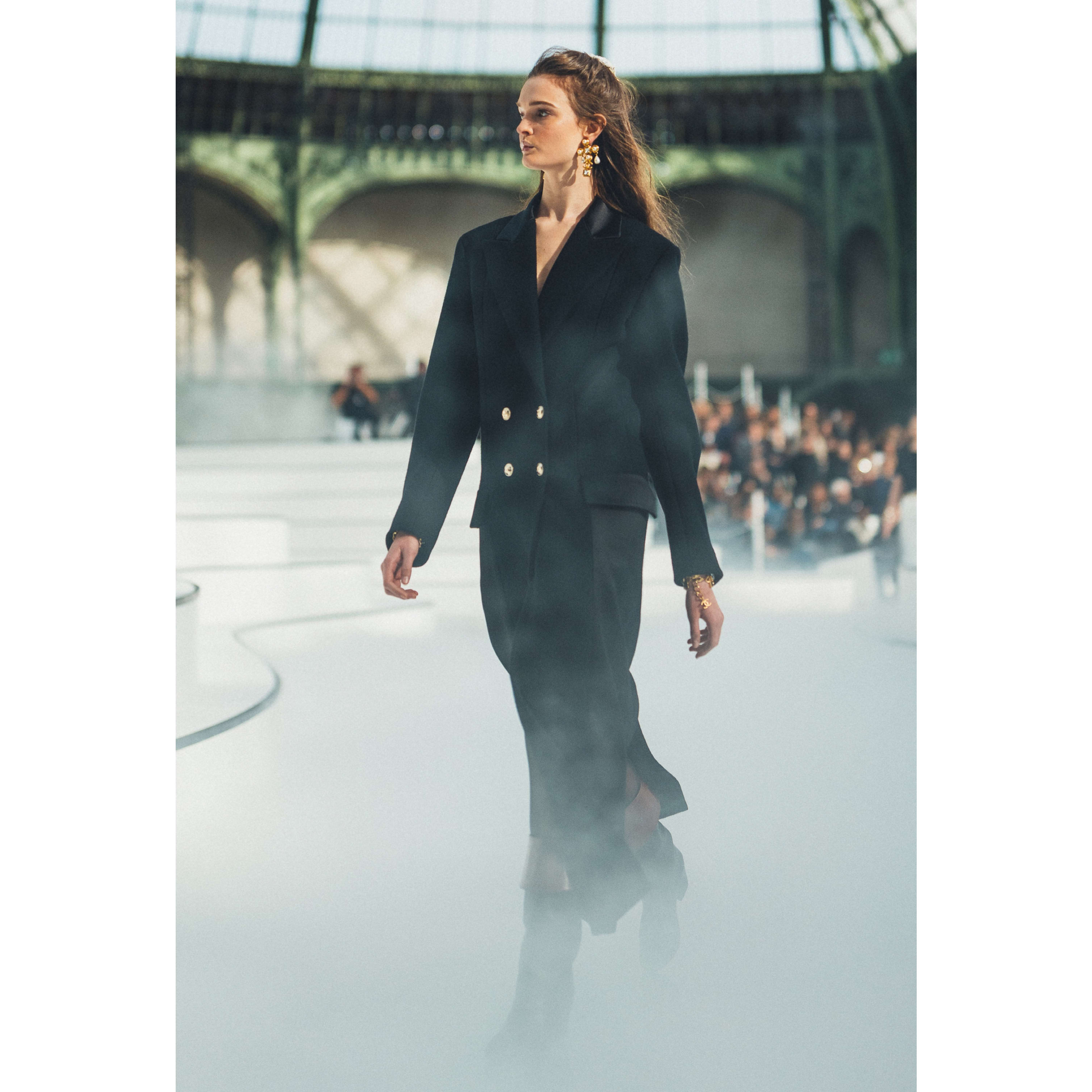 Coat - Black - Wool Cloth - CHANEL - Default view - see standard sized version