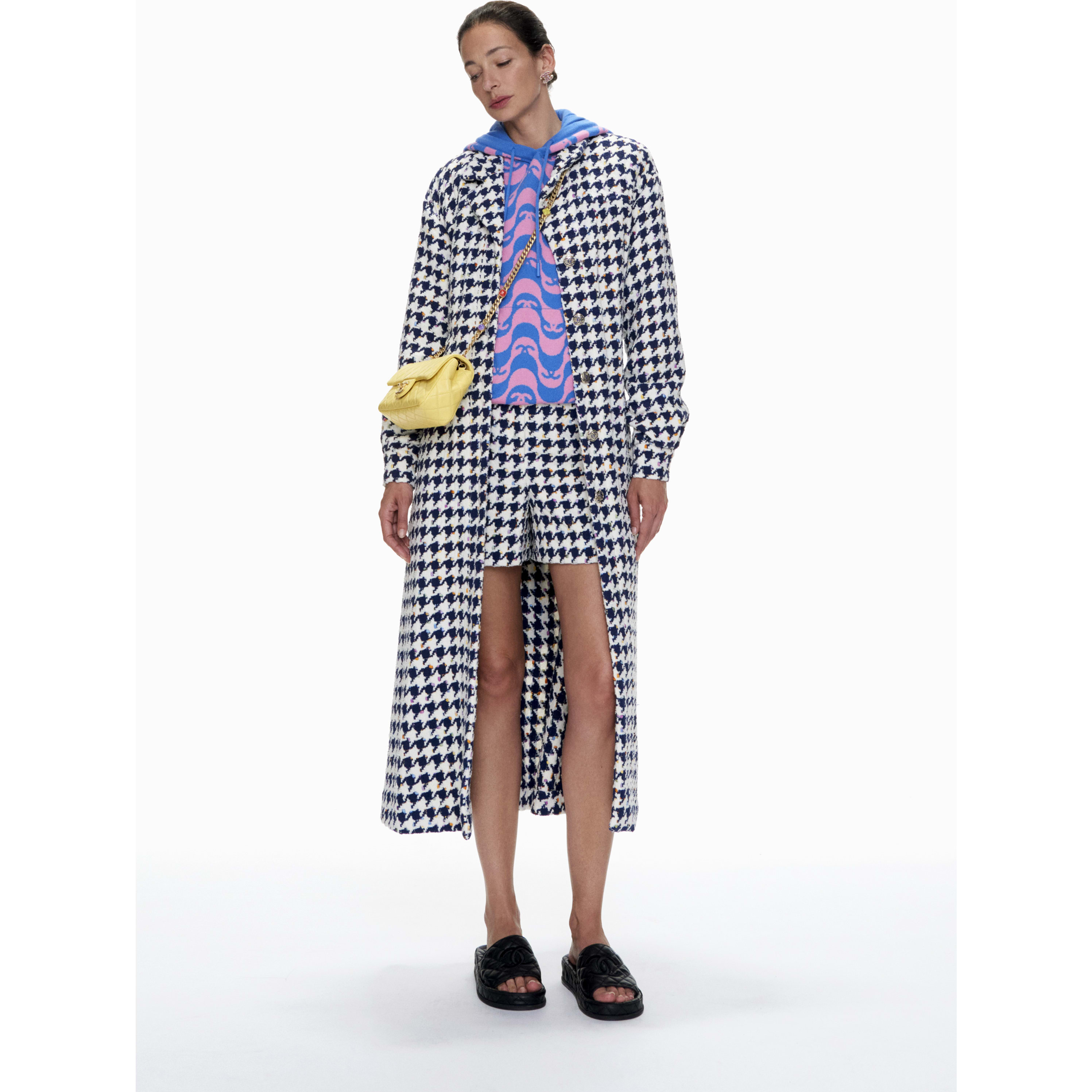 Coat - Ecru, Navy Blue & Multicolour - Tweed - CHANEL - Default view - see standard sized version
