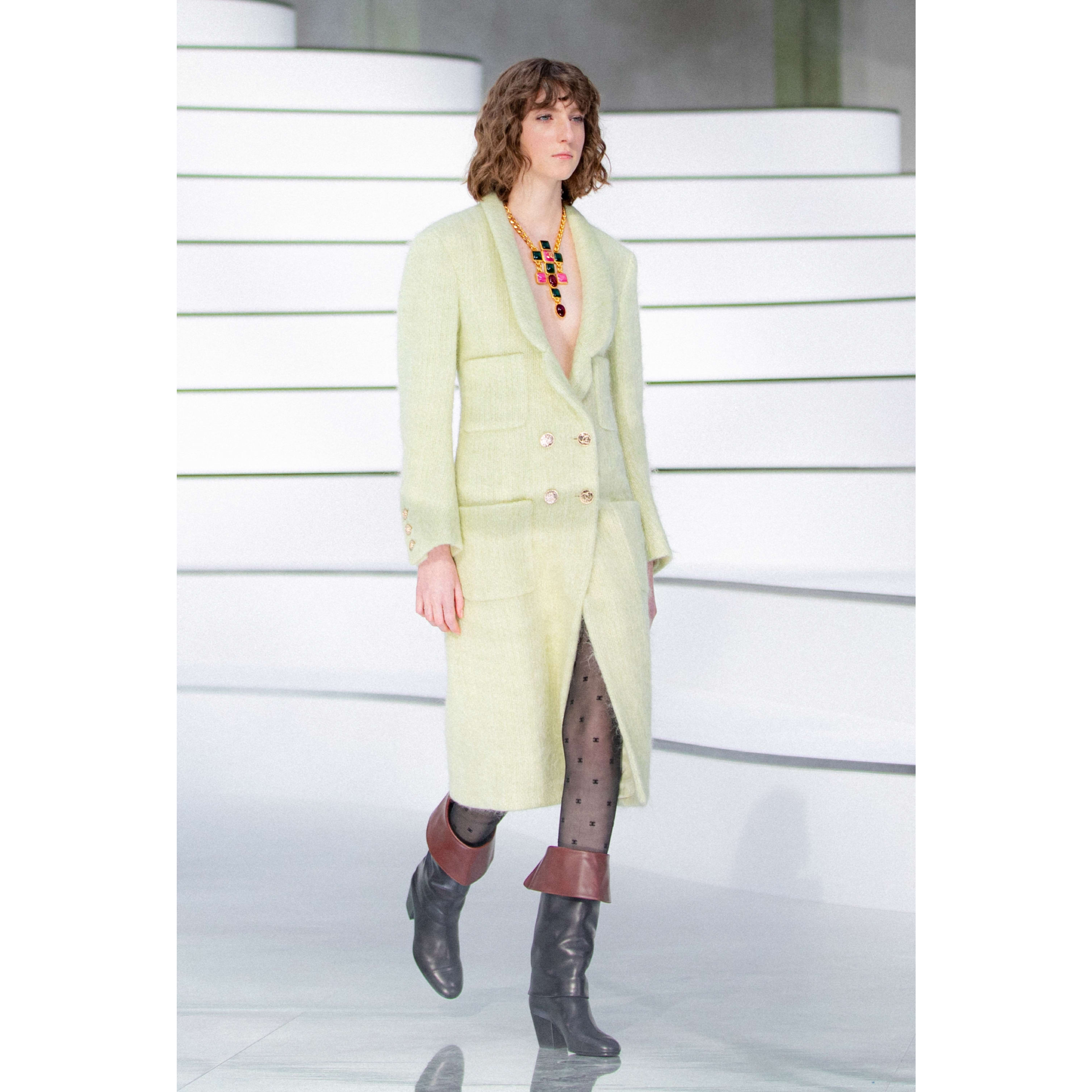 Coat - Green - Wool - CHANEL - Default view - see standard sized version