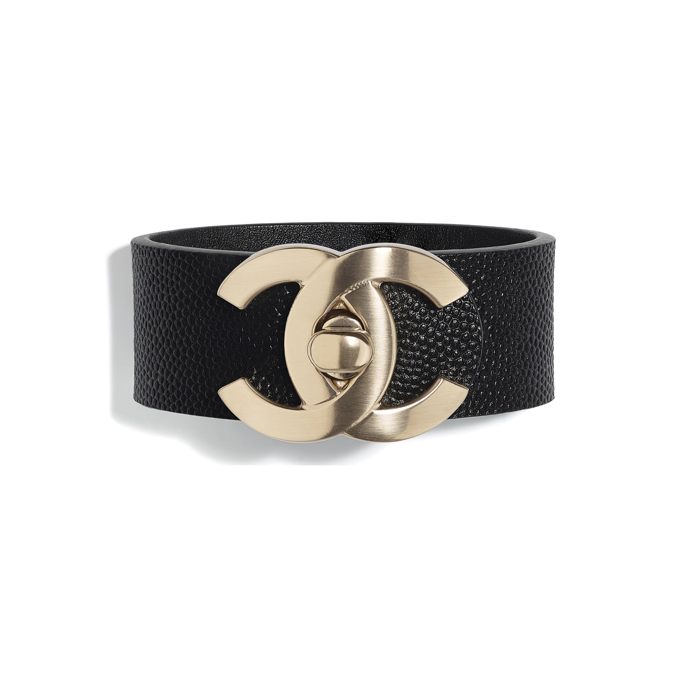 Cuff - Gold & Black - Metal & Calfskin - Default view - see standard sized version