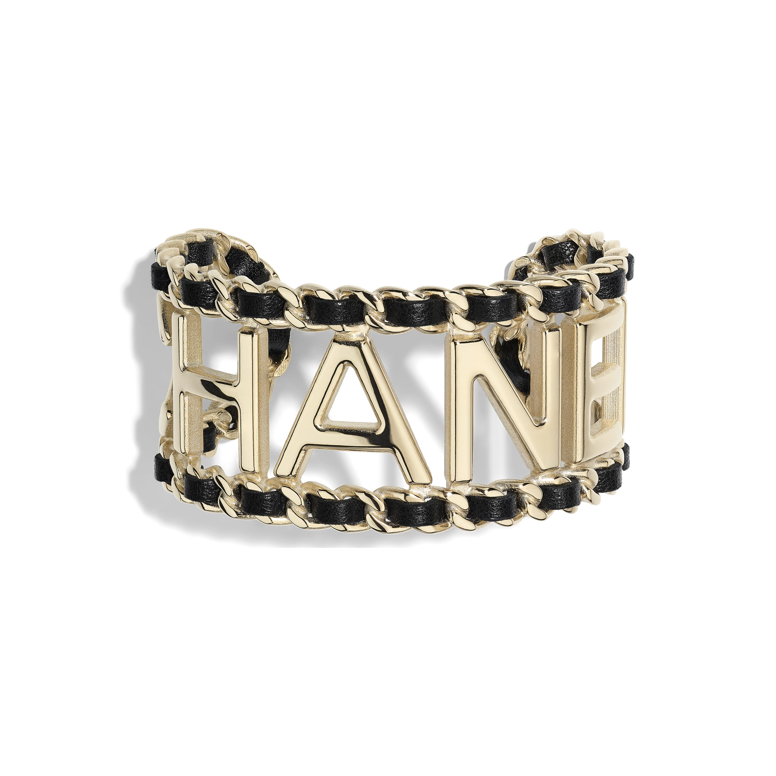 Cuff - Gold & Black - Metal & Lambskin - Default view - see standard sized version