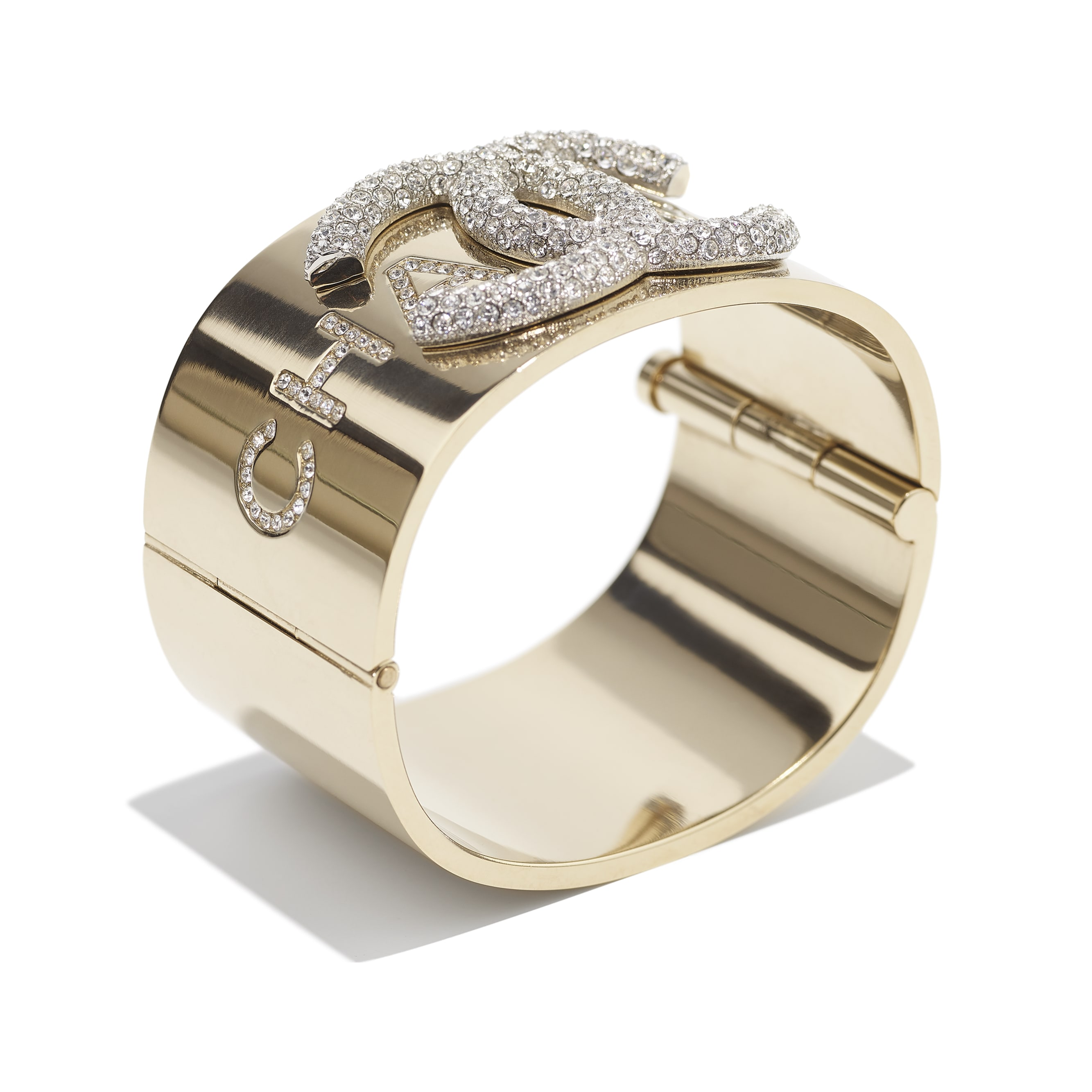 Cuff - Gold & Crystal - Metal & Diamantés - CHANEL - Alternative view - see standard sized version