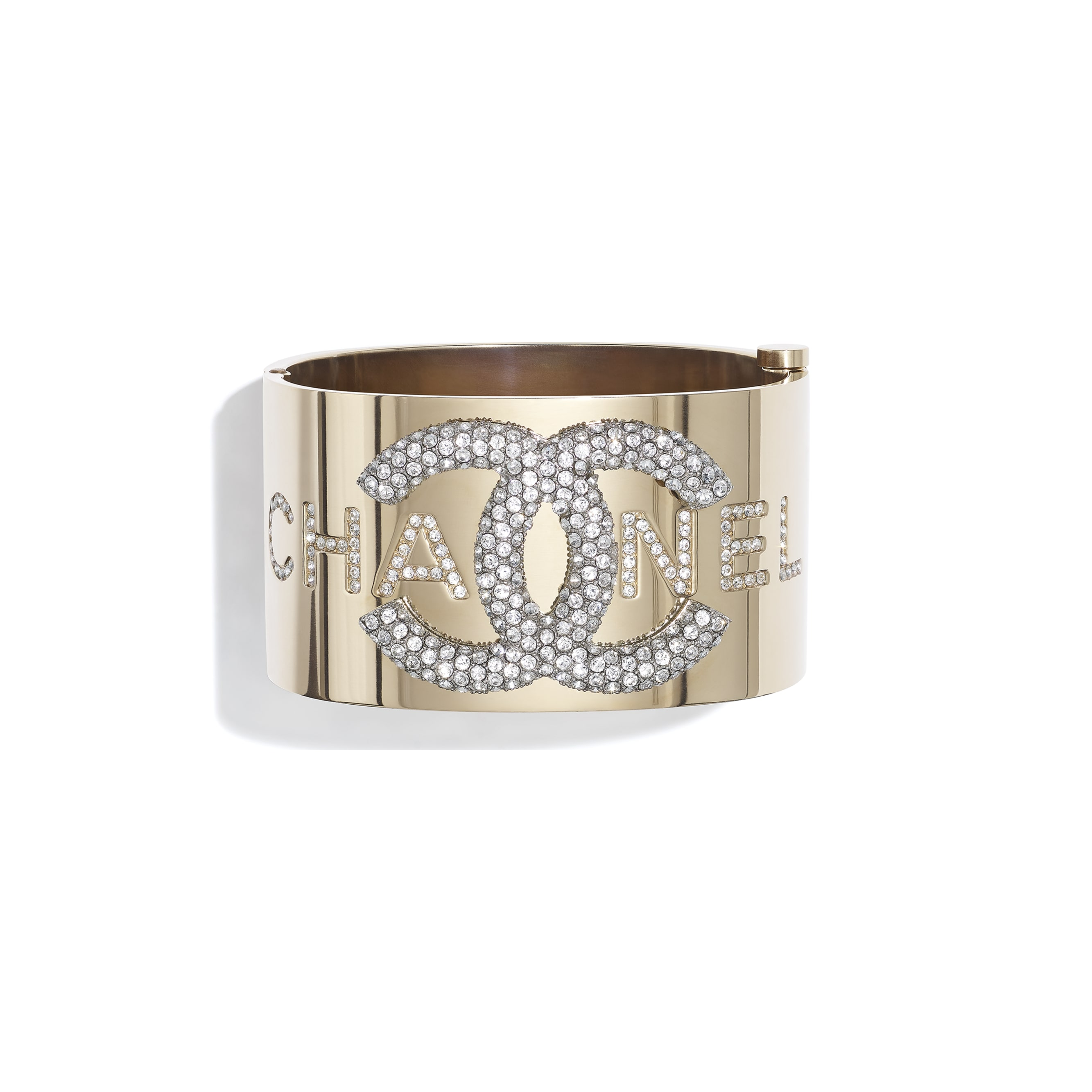 Cuff - Gold & Crystal - Metal & Diamantés - CHANEL - Default view - see standard sized version