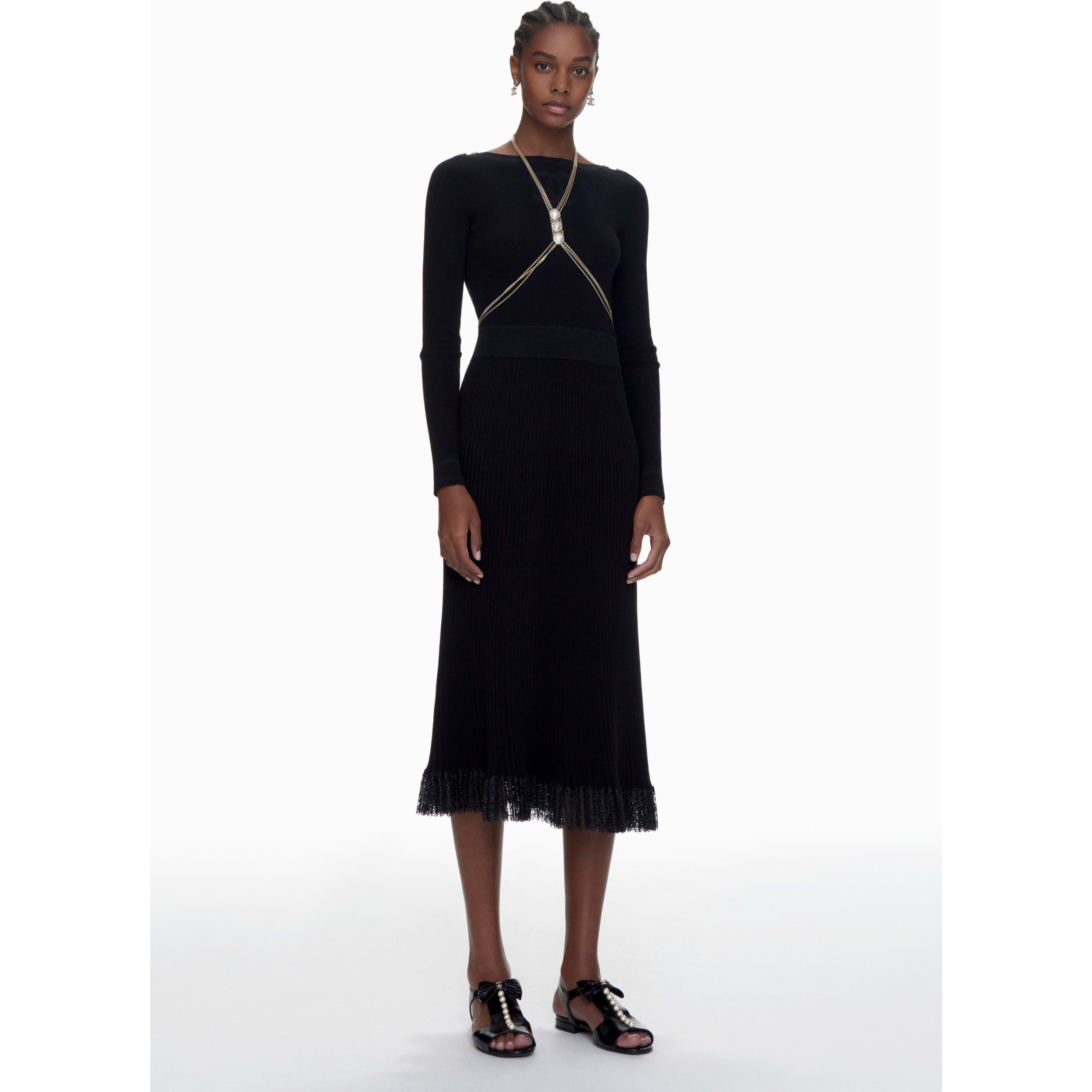 Dress - Black - Cotton & Mixed Fibres - CHANEL - Default view - see standard sized version
