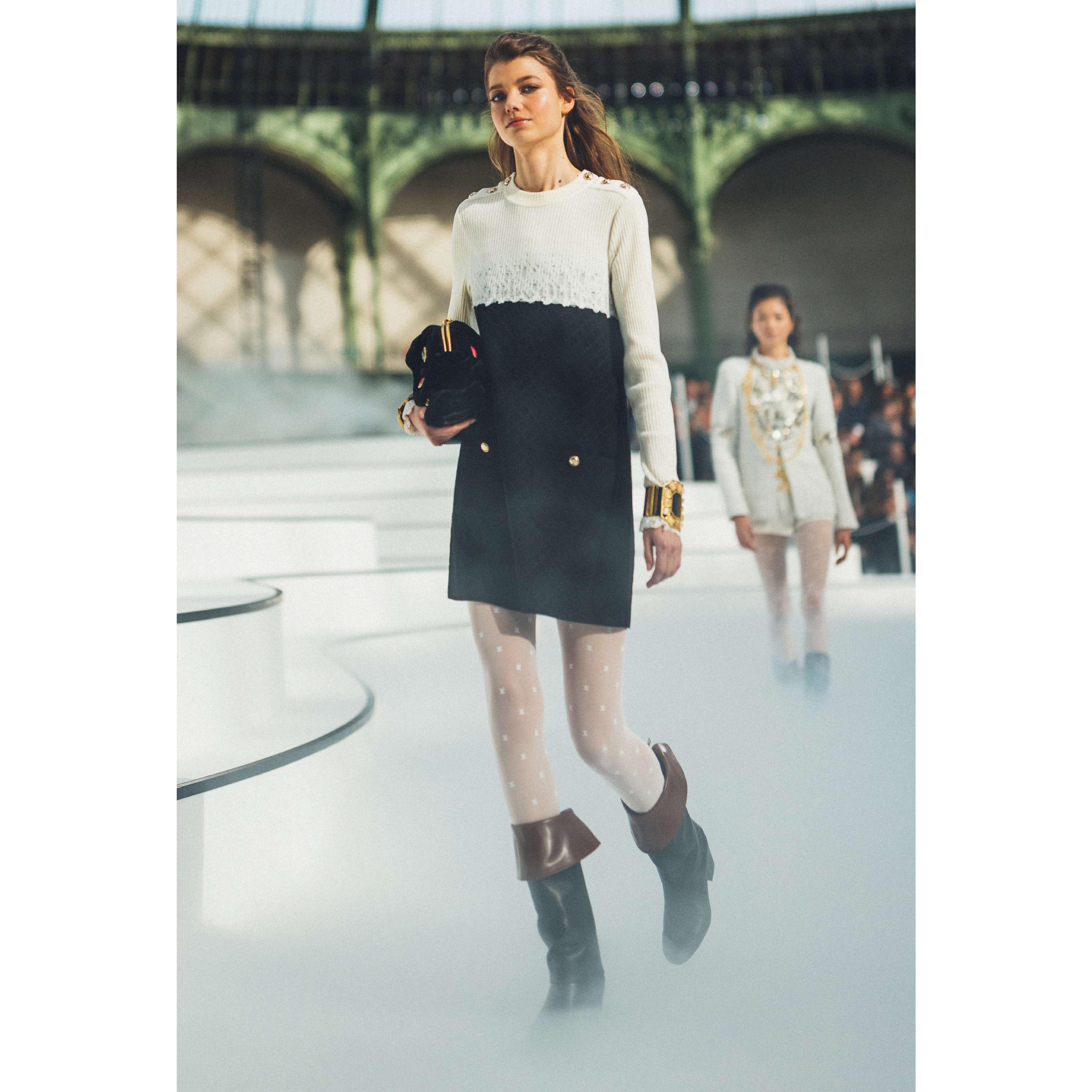 Dress - Black & Ecru - Wool - CHANEL - Default view - see standard sized version