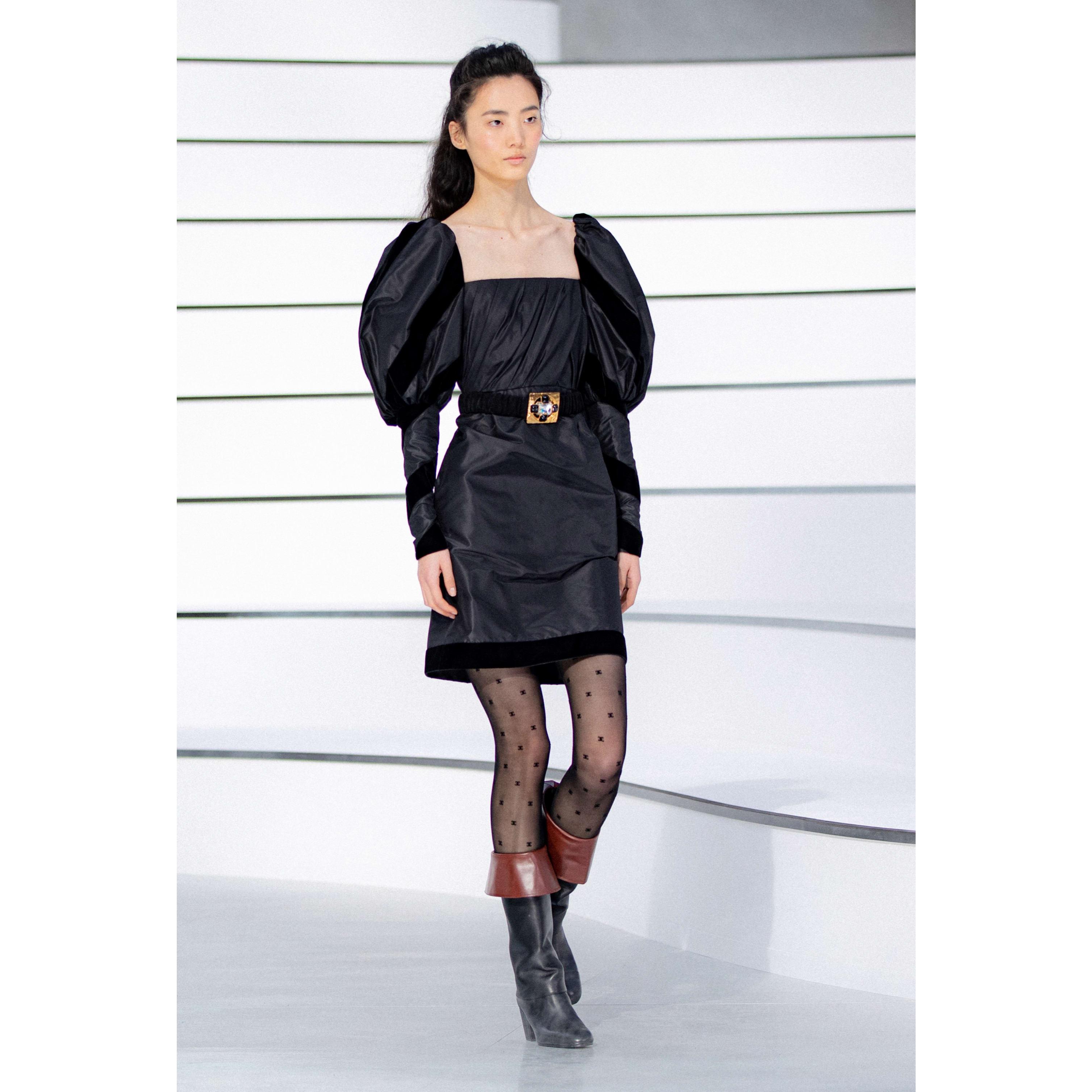 Kleid - Schwarz - Seidentaft - CHANEL - Standardansicht - Standardgröße anzeigen