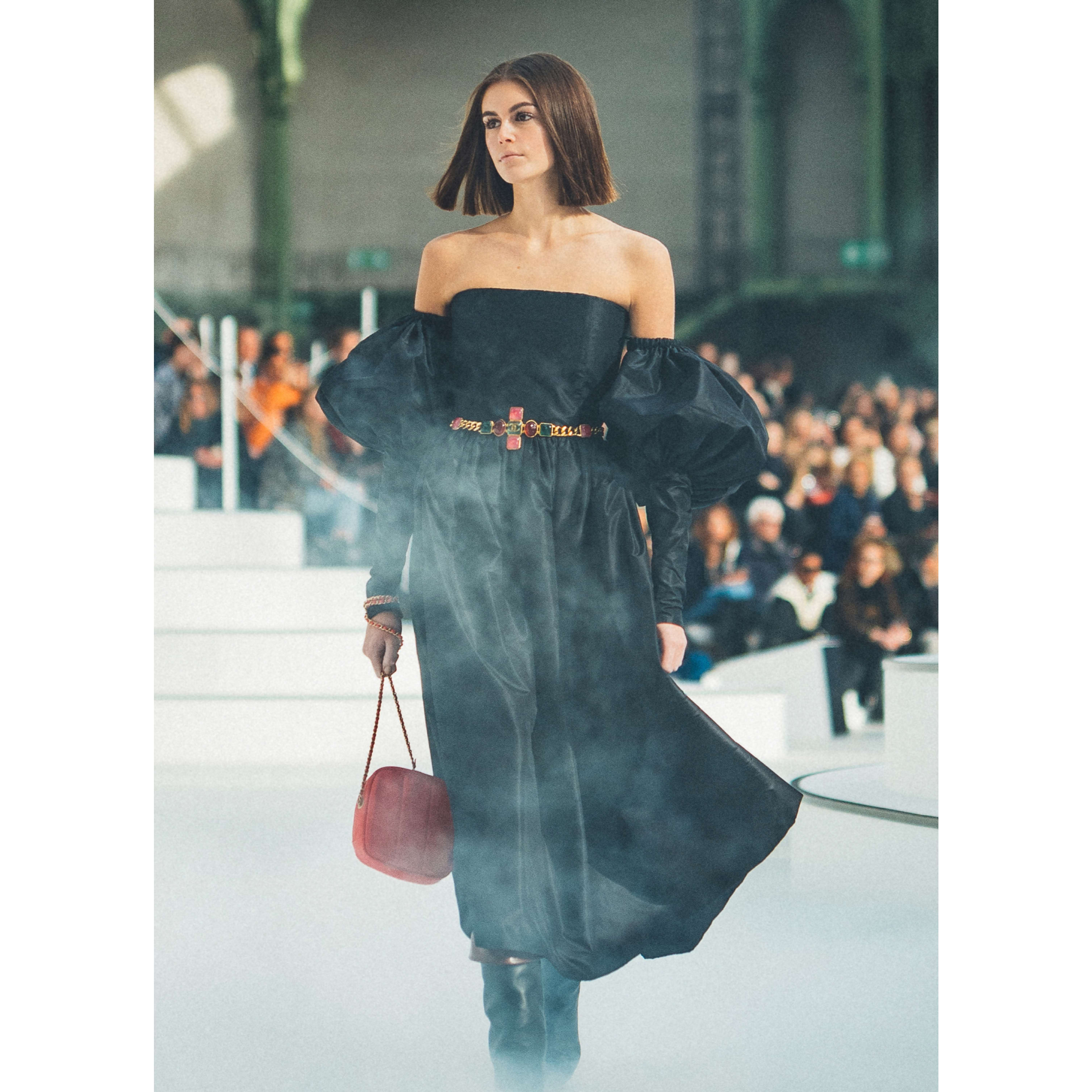 Dress - Black - Silk Taffeta - CHANEL - Default view - see standard sized version