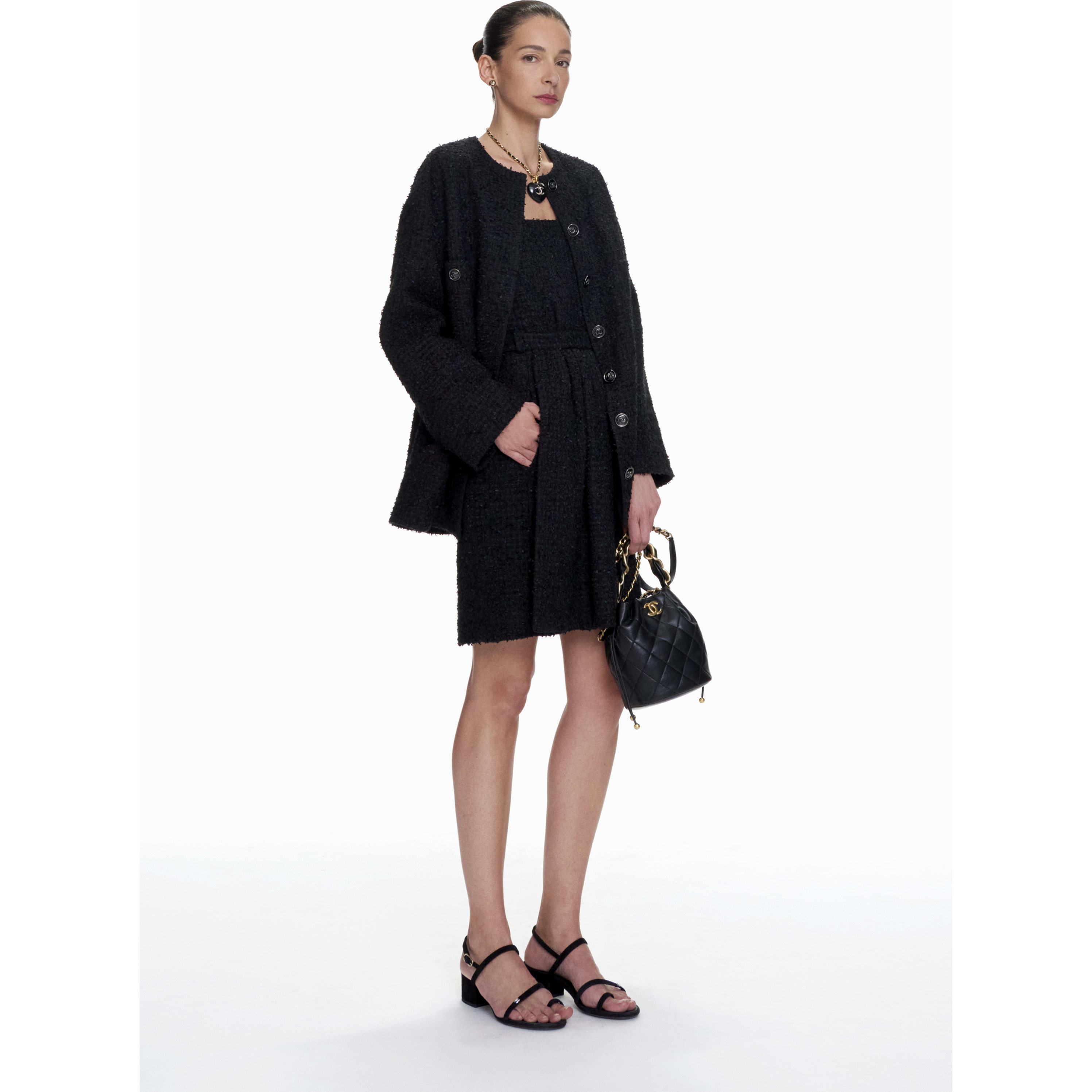 Dress - Black - Tweed - CHANEL - Default view - see standard sized version