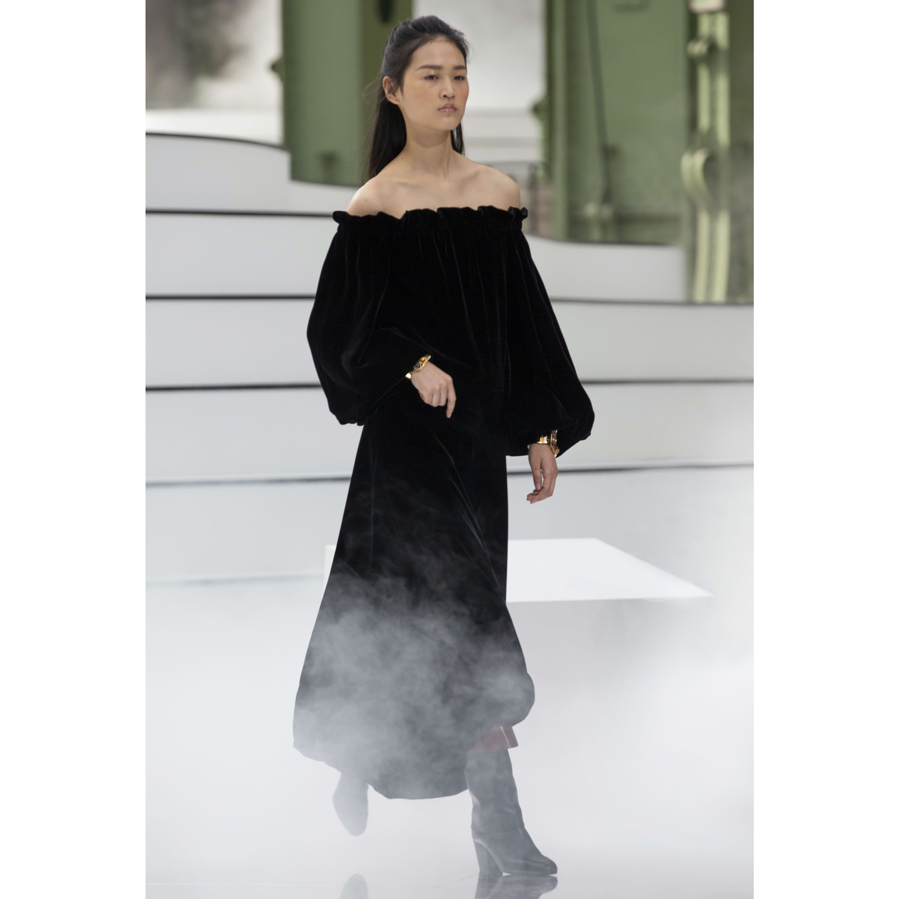 Dress - Black - Velvet - CHANEL - Default view - see standard sized version