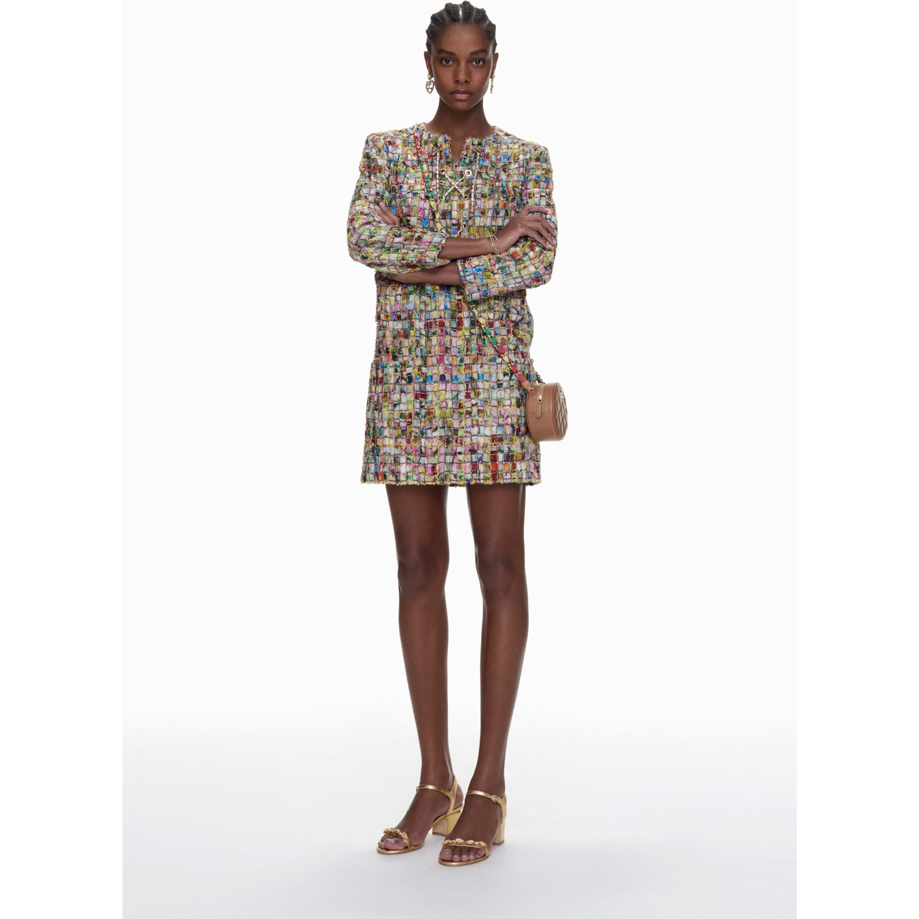 Dress - Multicolour - Cotton Tweed - CHANEL - Default view - see standard sized version